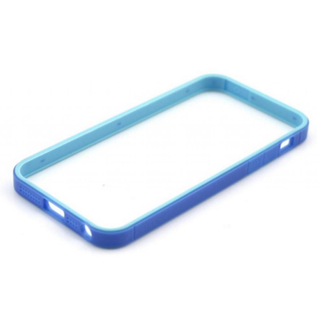 Чехол для моб. телефона JCPAL Anti-shock Bumper 3 in 1 для iPhone 5S/5 Set-Blue (JCP3313) изображение 2