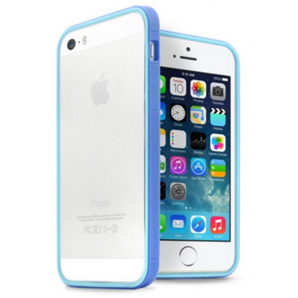 Чехол для моб. телефона JCPAL Anti-shock Bumper 3 in 1 для iPhone 5S/5 Set-Blue (JCP3313)