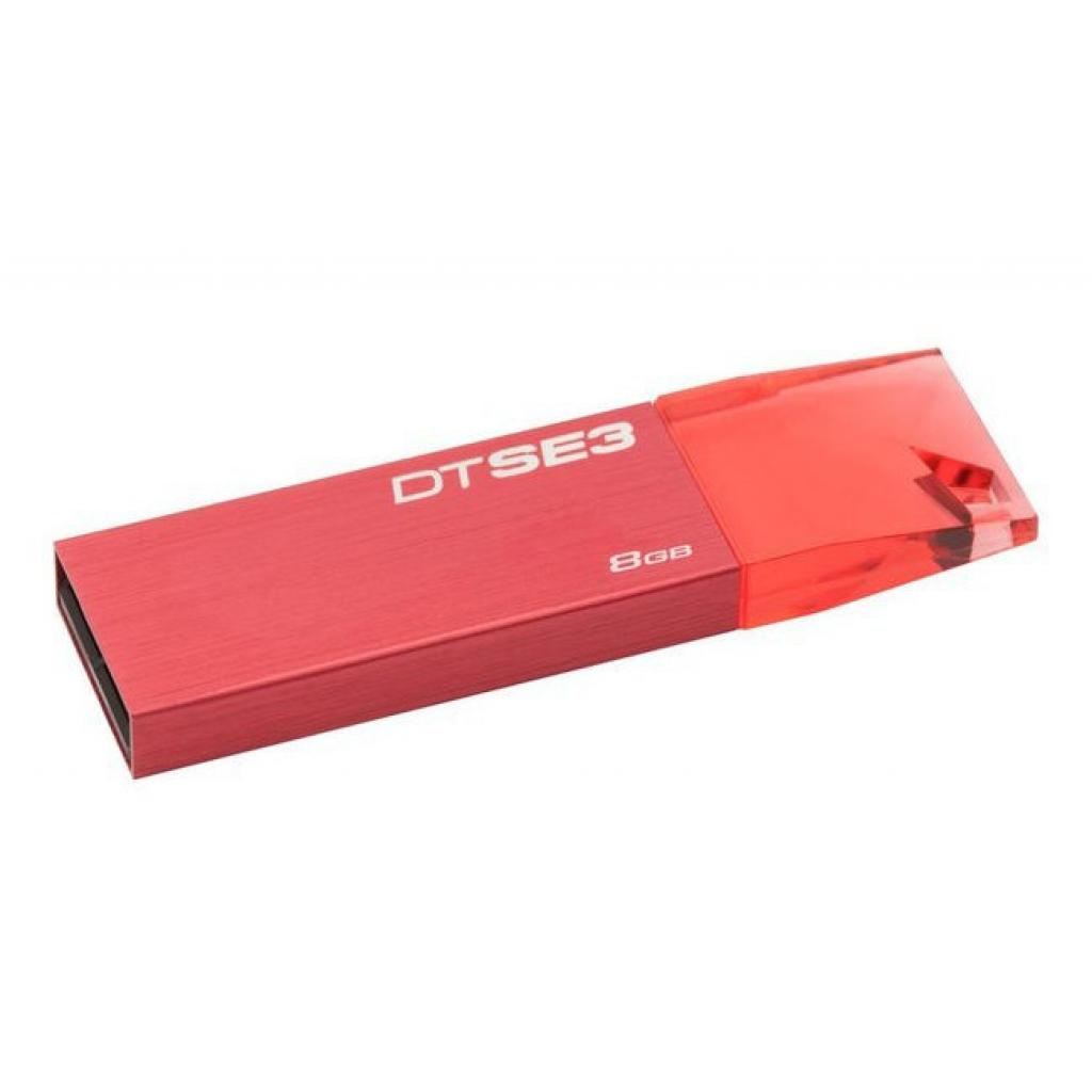 USB флеш накопитель Kingston 8GB DTSE3 Metalic Red USB 2.0 (KC-U688G-4C1R) изображение 2