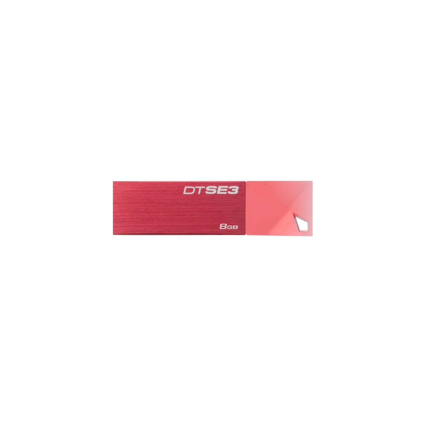 USB флеш накопитель Kingston 8GB DTSE3 Metalic Red USB 2.0 (KC-U688G-4C1R)