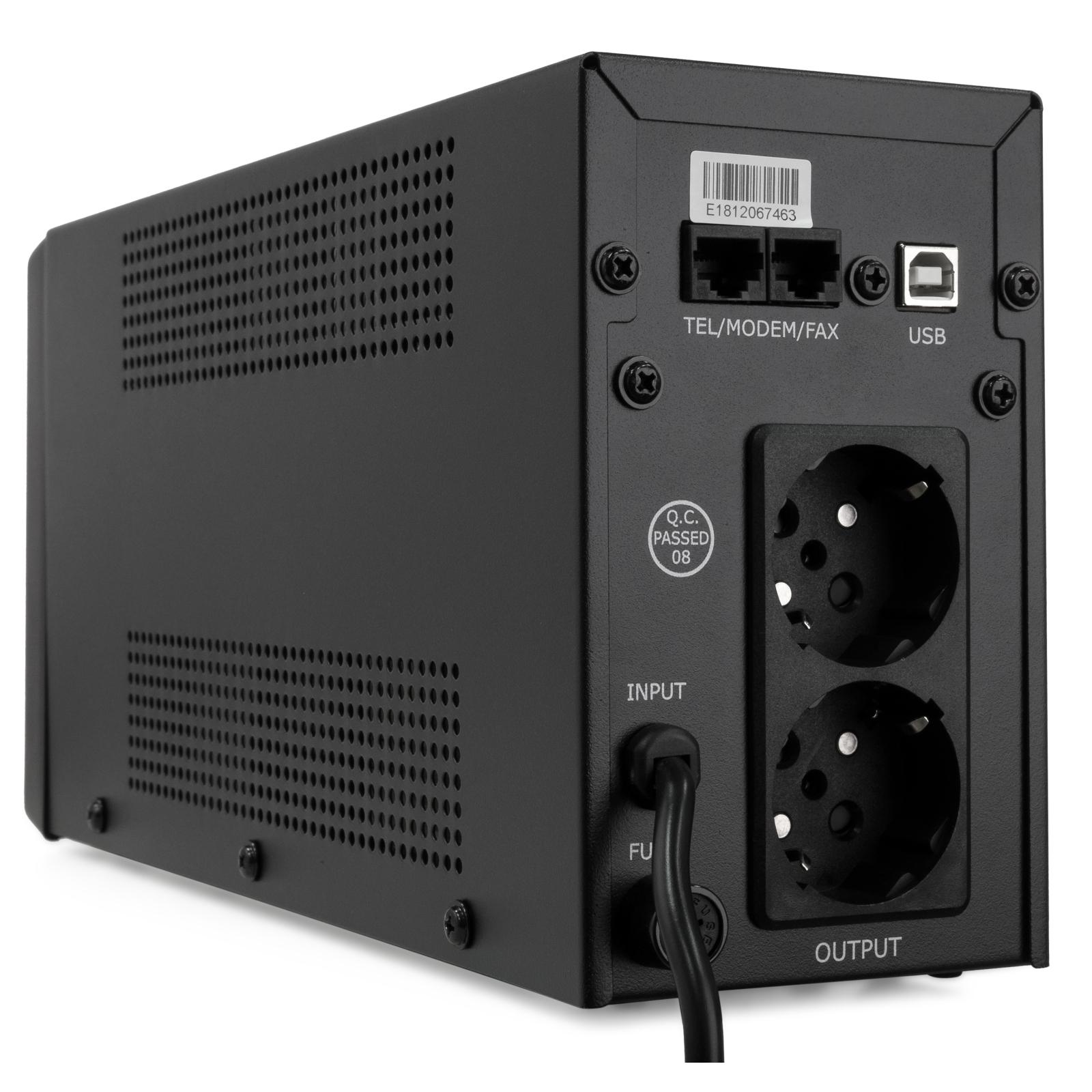 Источник бесперебойного питания Vinga LCD 600VA metal case with USB (VPC-600MU) изображение 5