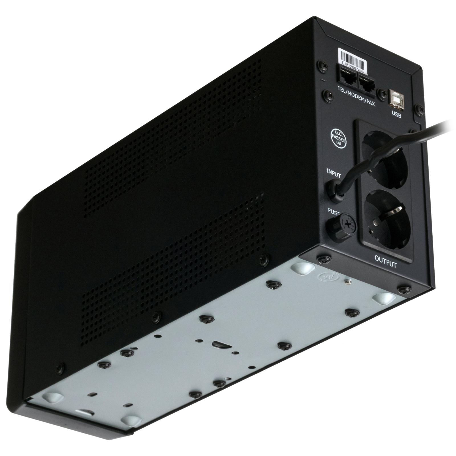 Источник бесперебойного питания Vinga LCD 600VA metal case with USB (VPC-600MU) изображение 8