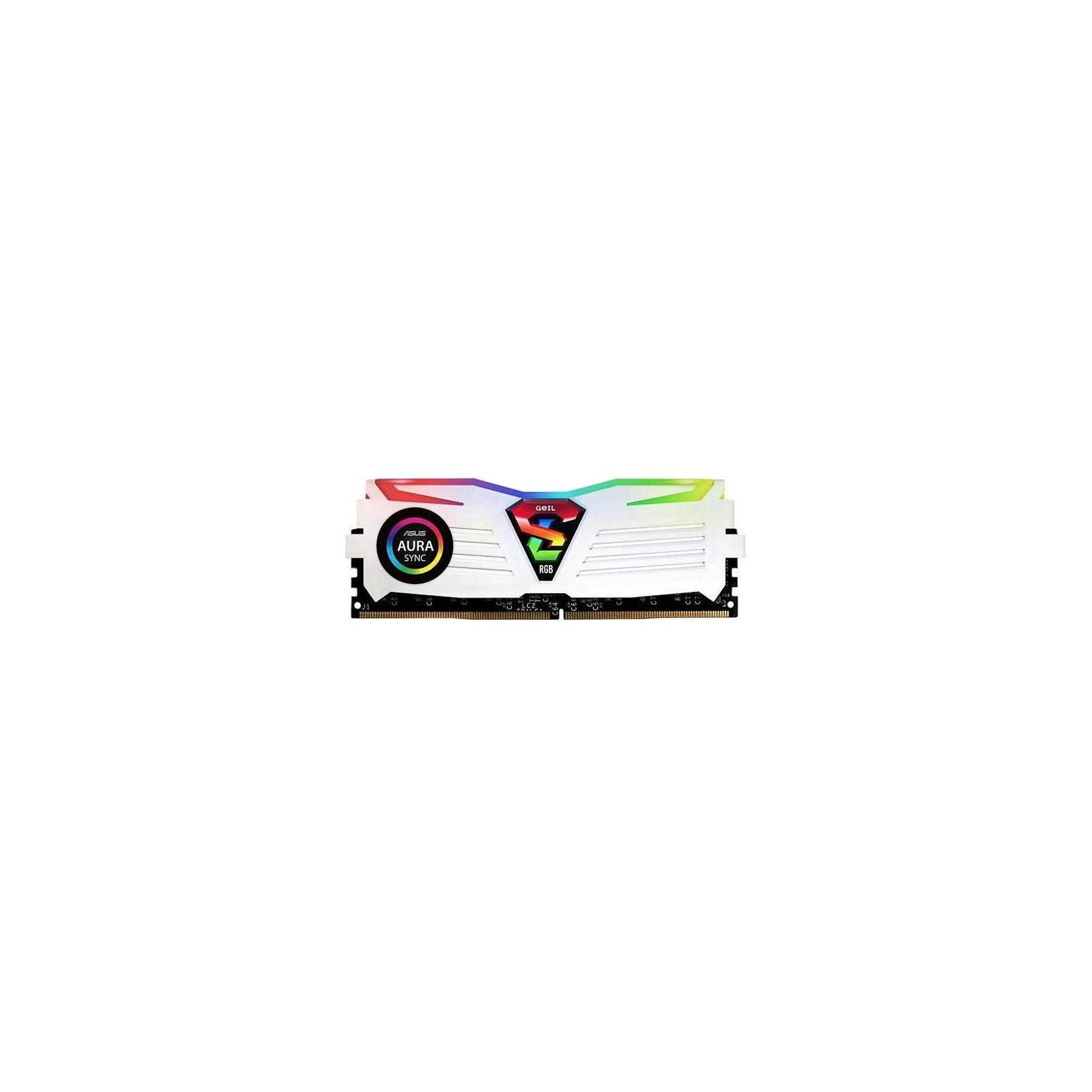 Модуль памяти для компьютера DDR4 16GB (2x8GB) 3200 MHz Super Luce White RGB Sync LED Geil (GLWS416GB3200C16ADC) изображение 2
