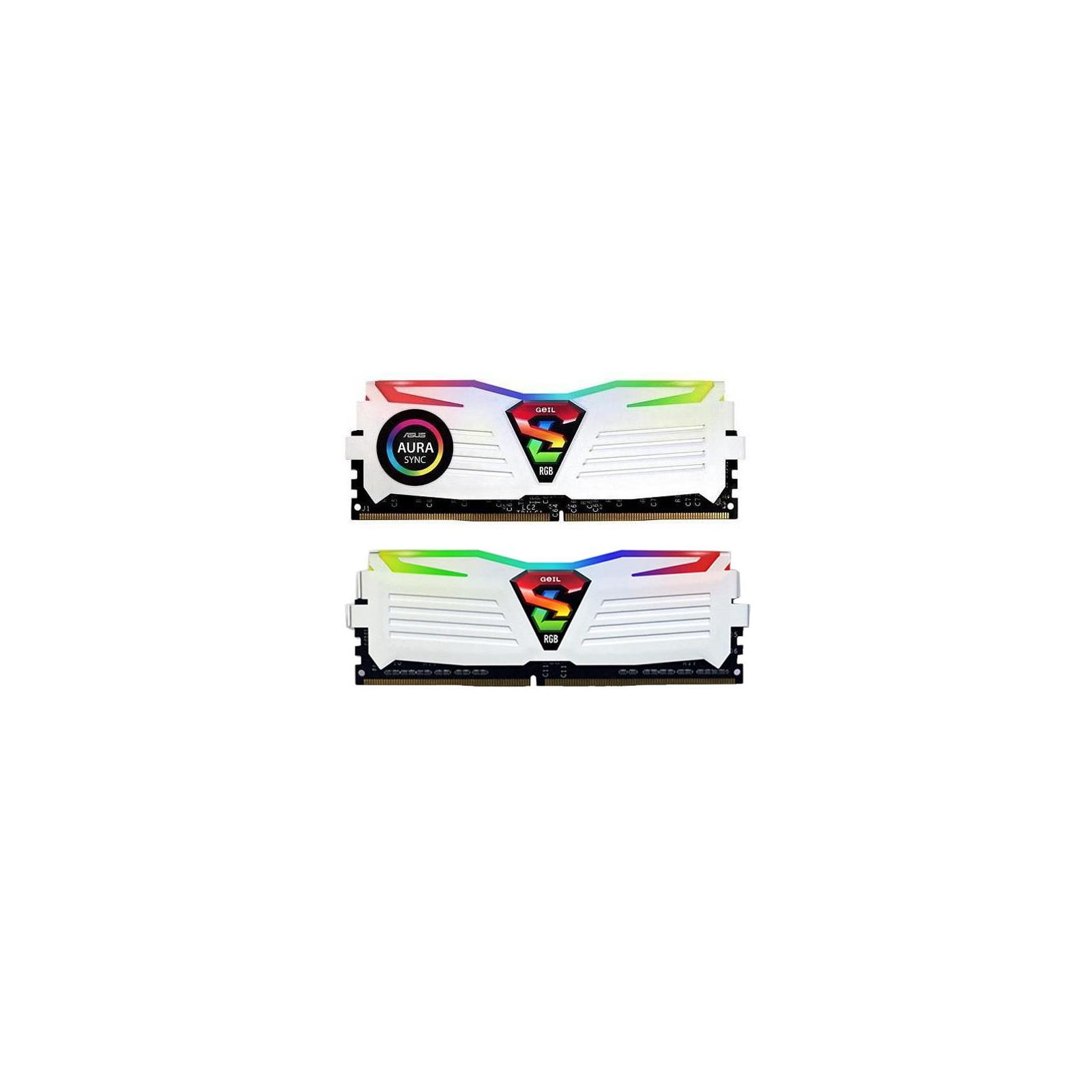 Модуль памяти для компьютера DDR4 16GB (2x8GB) 3200 MHz Super Luce White RGB Sync LED Geil (GLWS416GB3200C16ADC)