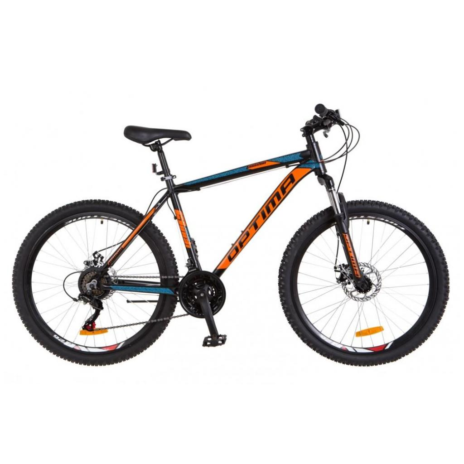"Велосипед Optimabikes 29"" MOTION 2018 AM 14G DD рама-21"" Al черно-оранжевый (OPS-OP-29-062)"
