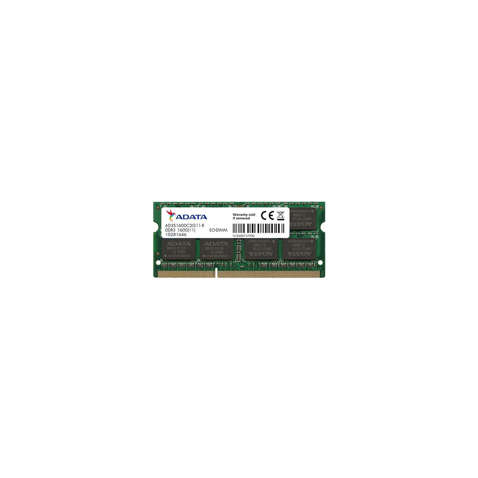 Модуль памяти для ноутбука SoDIMM DDR3 2GB 1600 MHz ADATA (AD3S1600C2G11-S)