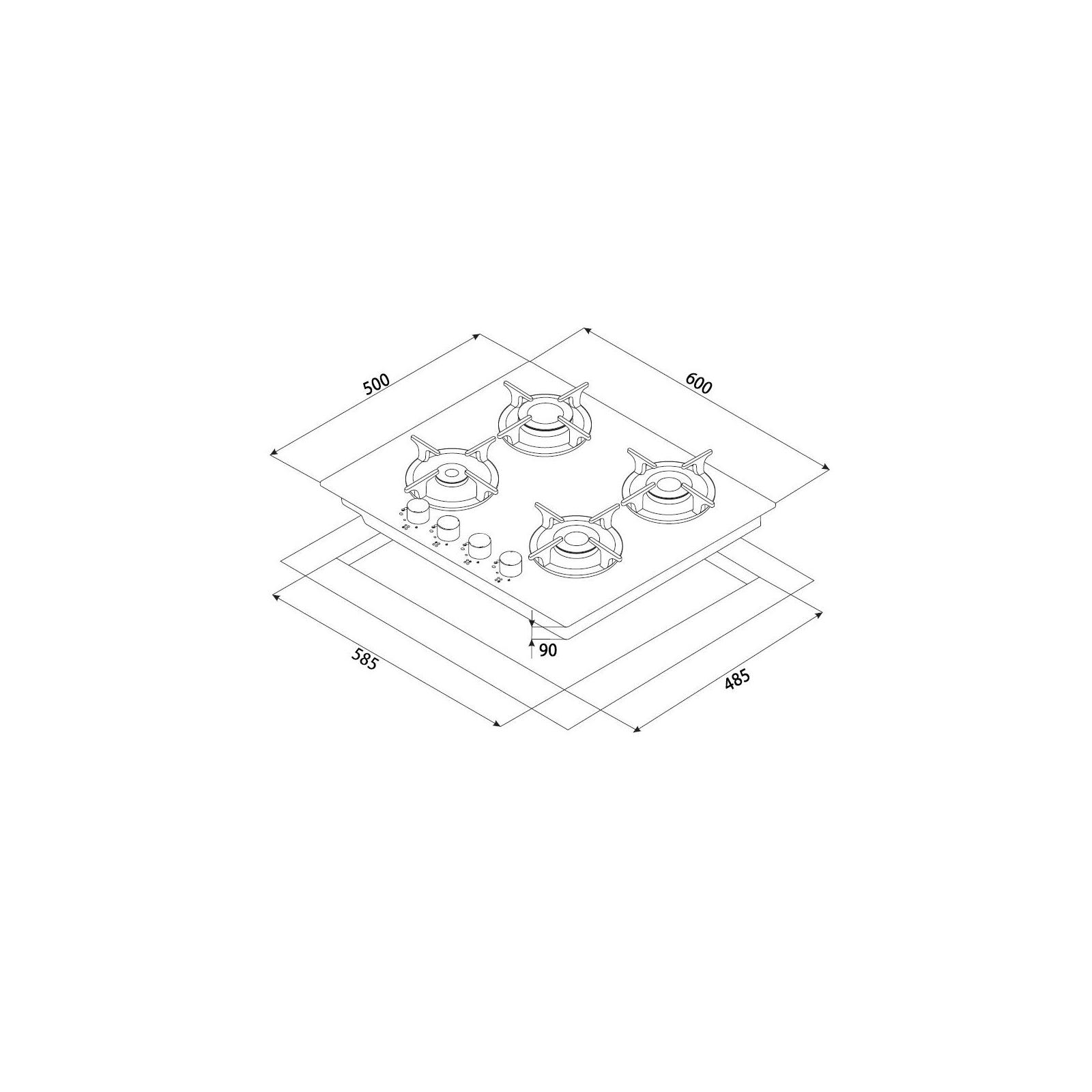 Варочная поверхность MINOLA MGG 61005 WH изображение 7