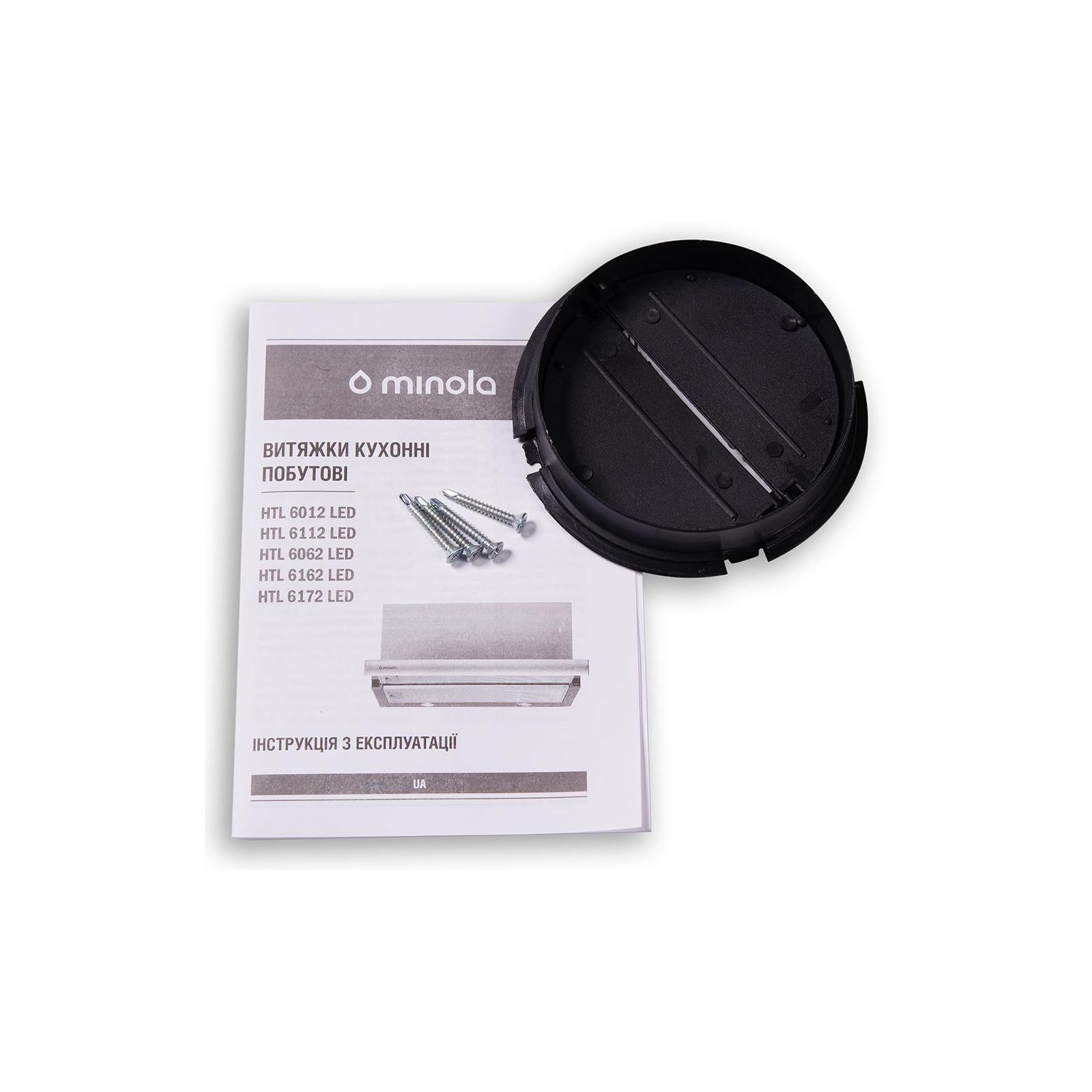Вытяжка кухонная MINOLA HTL 6062 I/BL GLASS 450 LED изображение 9