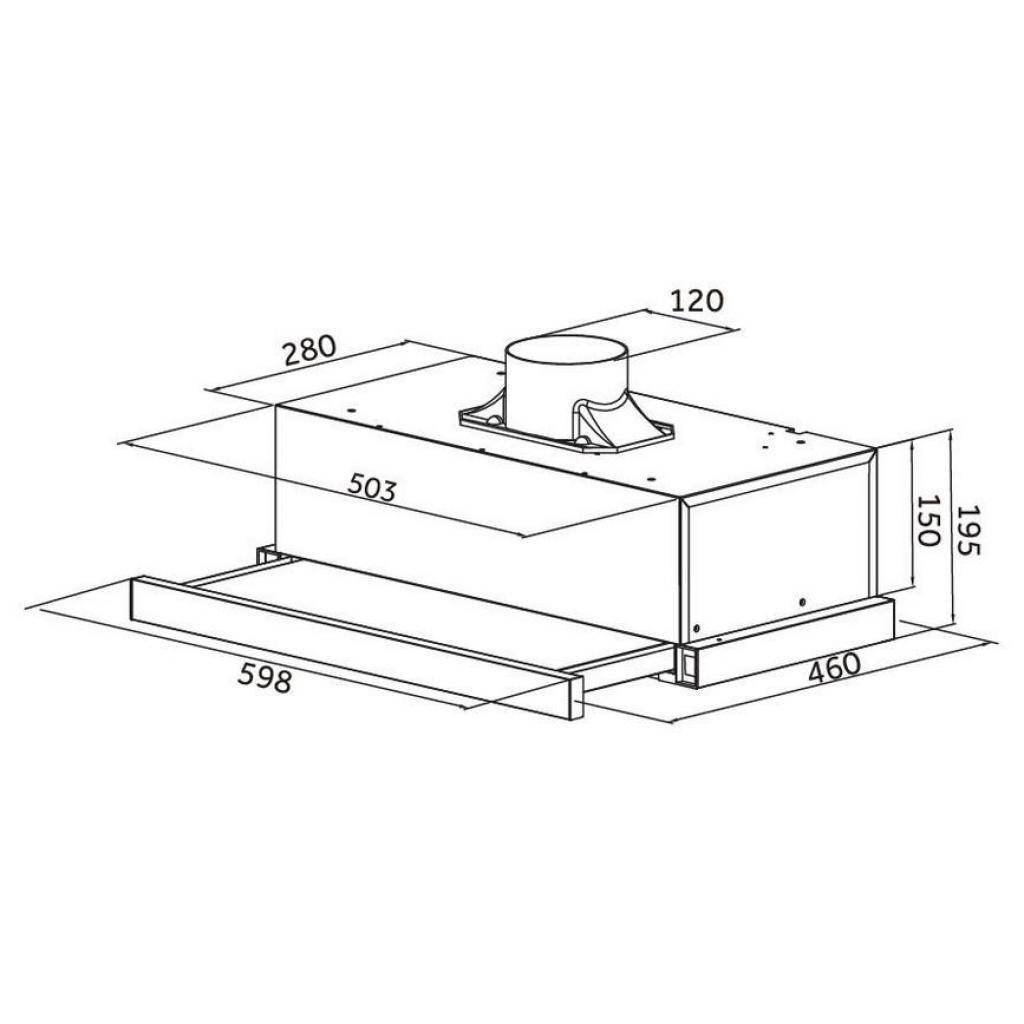 Вытяжка кухонная Pyramida TLX2-50 BR изображение 9
