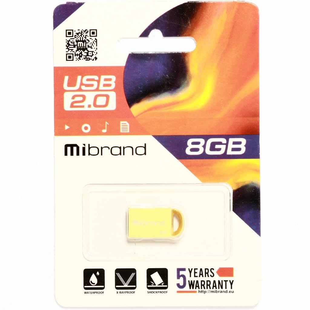 USB флеш накопитель Mibrand 16GB lynx Gold USB 2.0 (MI2.0/LY16M2G) изображение 2