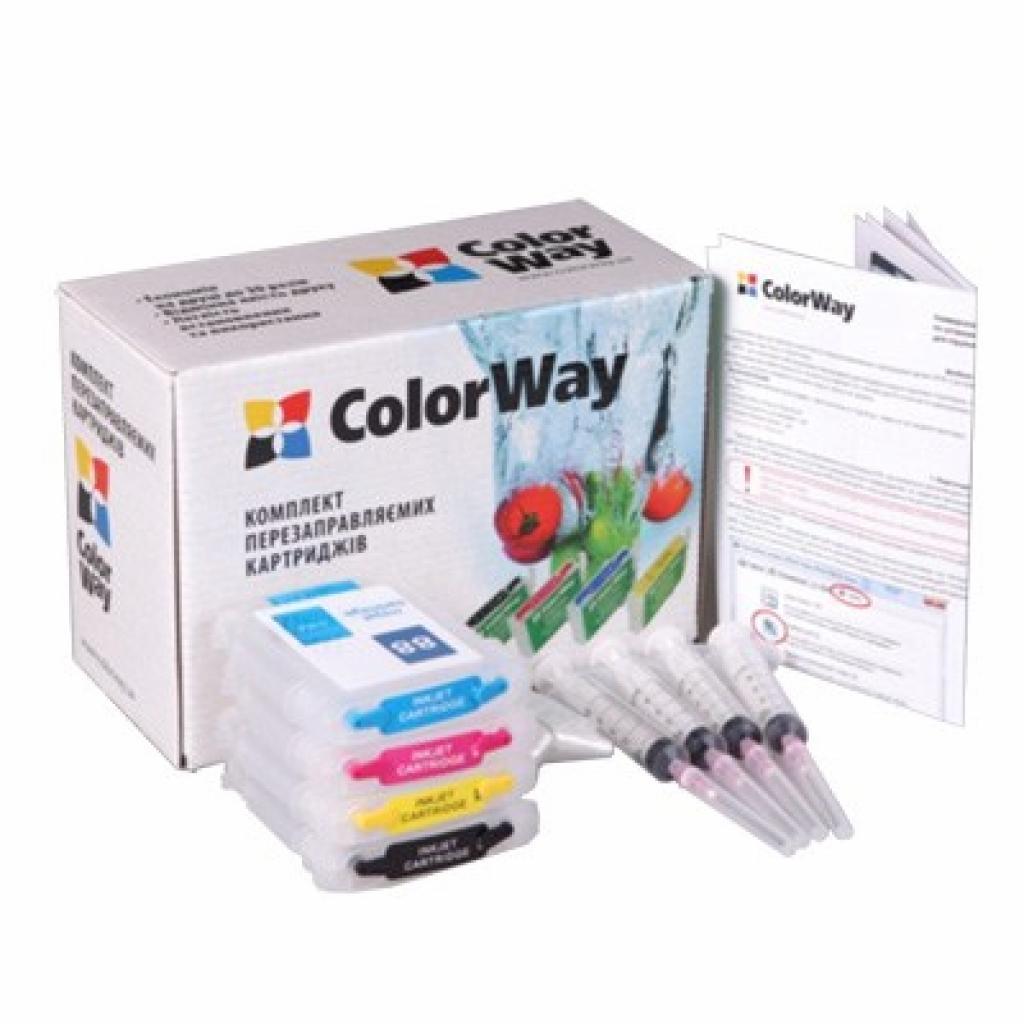 Комплект перезаправляемых картриджей ColorWay HP №88 chip (без чрнил) (H88RC-0.0)