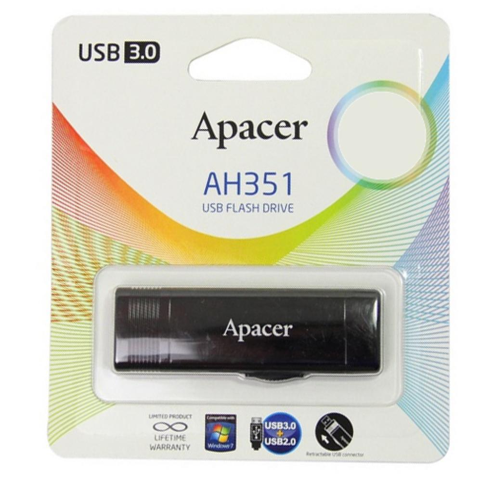 USB флеш накопитель 32GB AH351 Red RP USB3.0 Apacer (AP32GAH351R-1) изображение 9