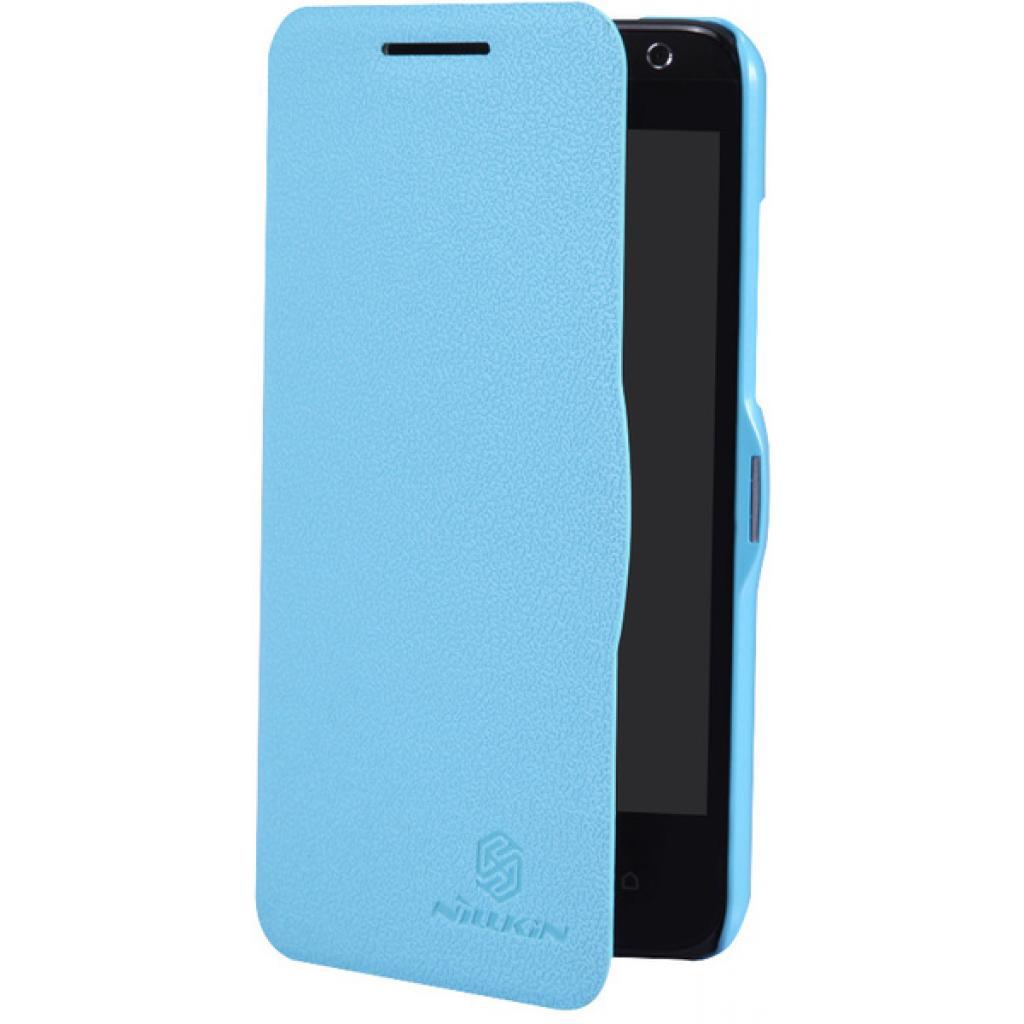 Чехол для моб. телефона NILLKIN для HTC Desire 300 /Fresh/ Leather/Blue (6120403) изображение 3