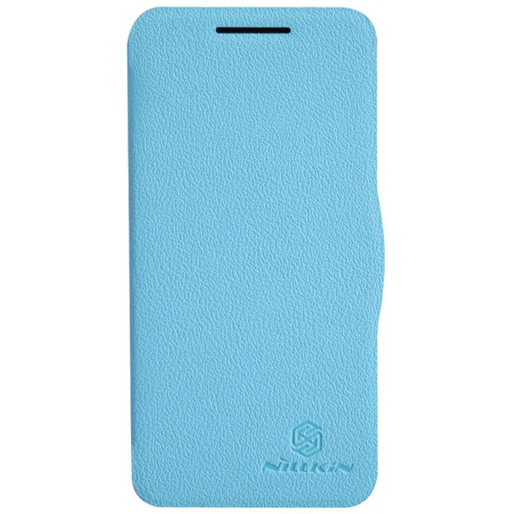 Чехол для моб. телефона NILLKIN для HTC Desire 300 /Fresh/ Leather/Blue (6120403)