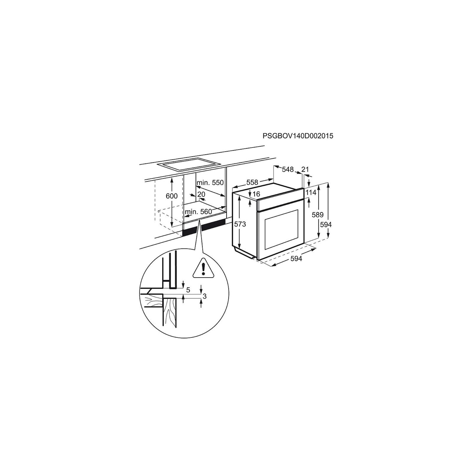 Духовой шкаф ELECTROLUX EOB 93434 AX (EOB93434AX) изображение 3