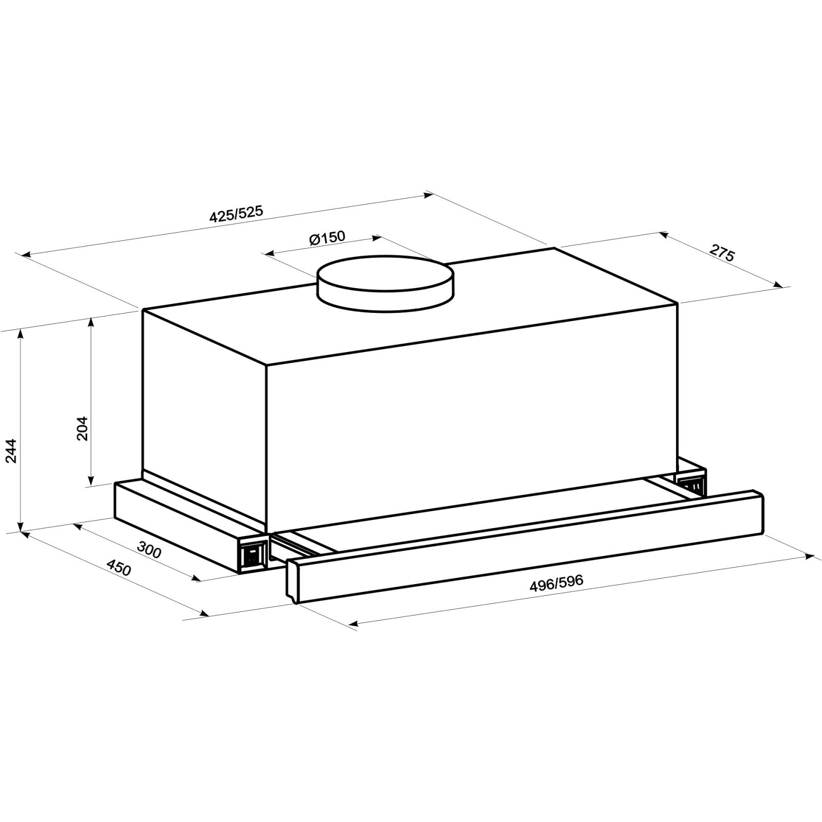 Вытяжка кухонная ELEYUS Storm 1200 LED 60 IS изображение 11