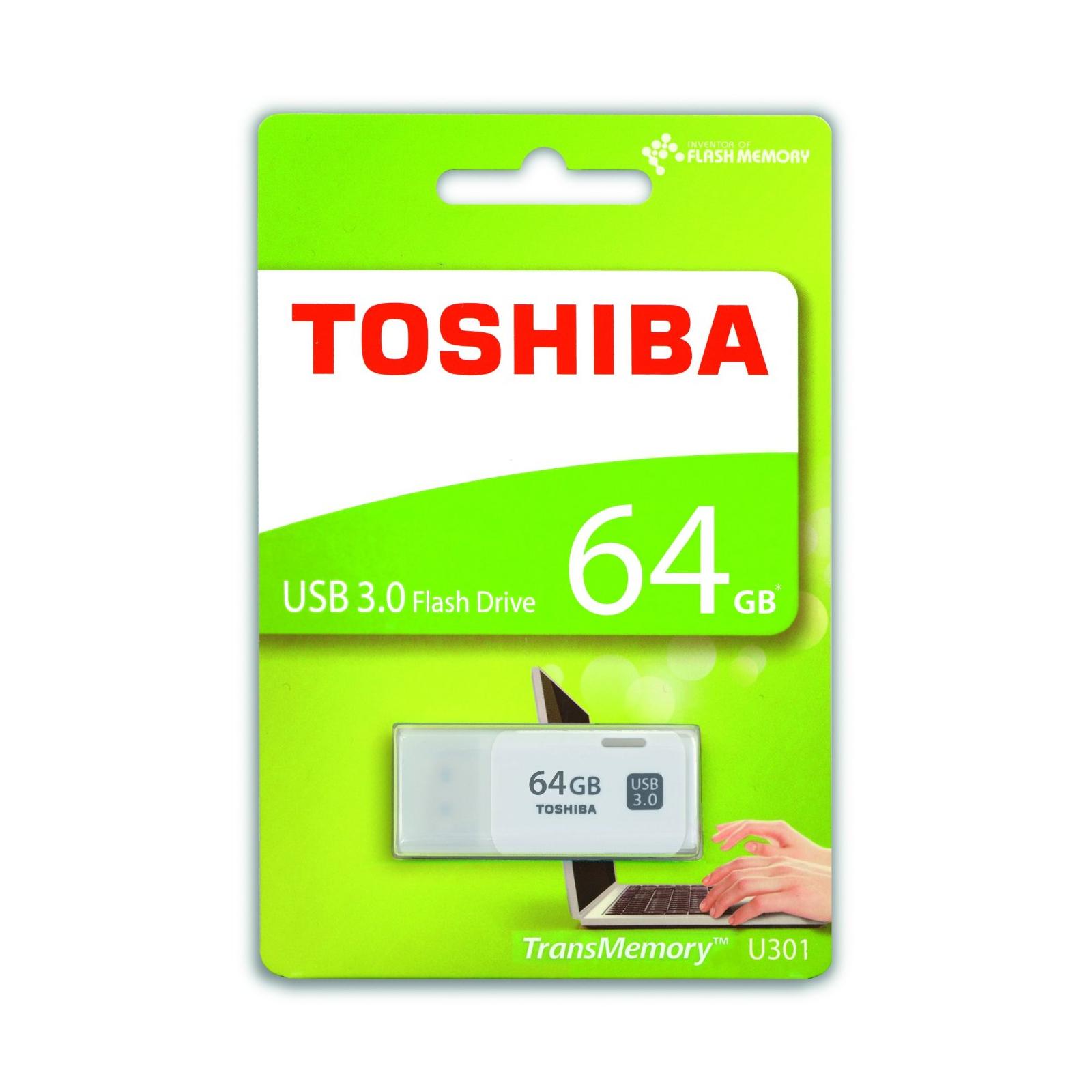 USB флеш накопитель TOSHIBA 64GB HAYABUSA USB 3.0 (THN-U301W0640E4) изображение 3