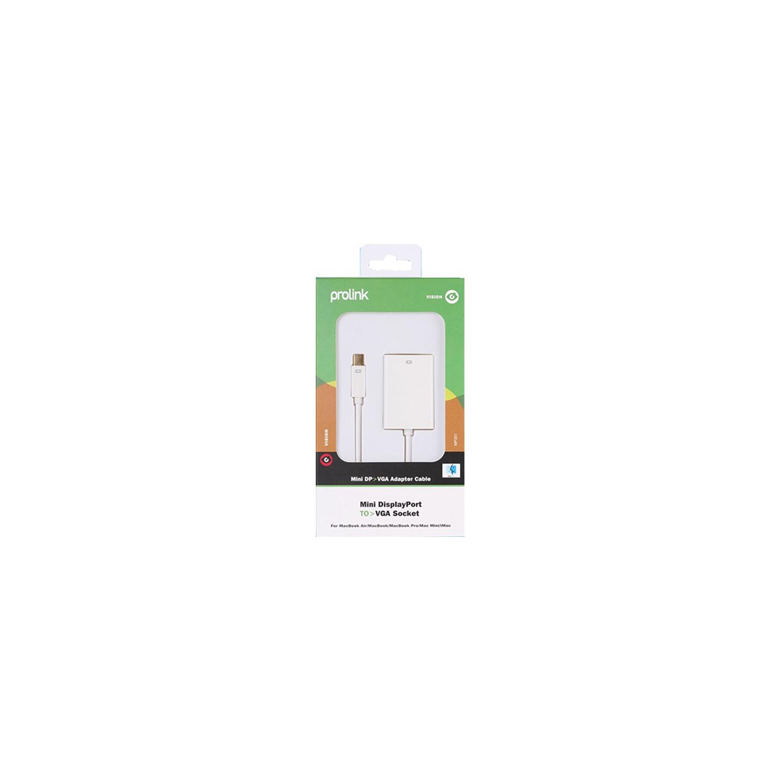Переходник miniDisplayPort to VGA 0.15m Prolink (MP351) изображение 5