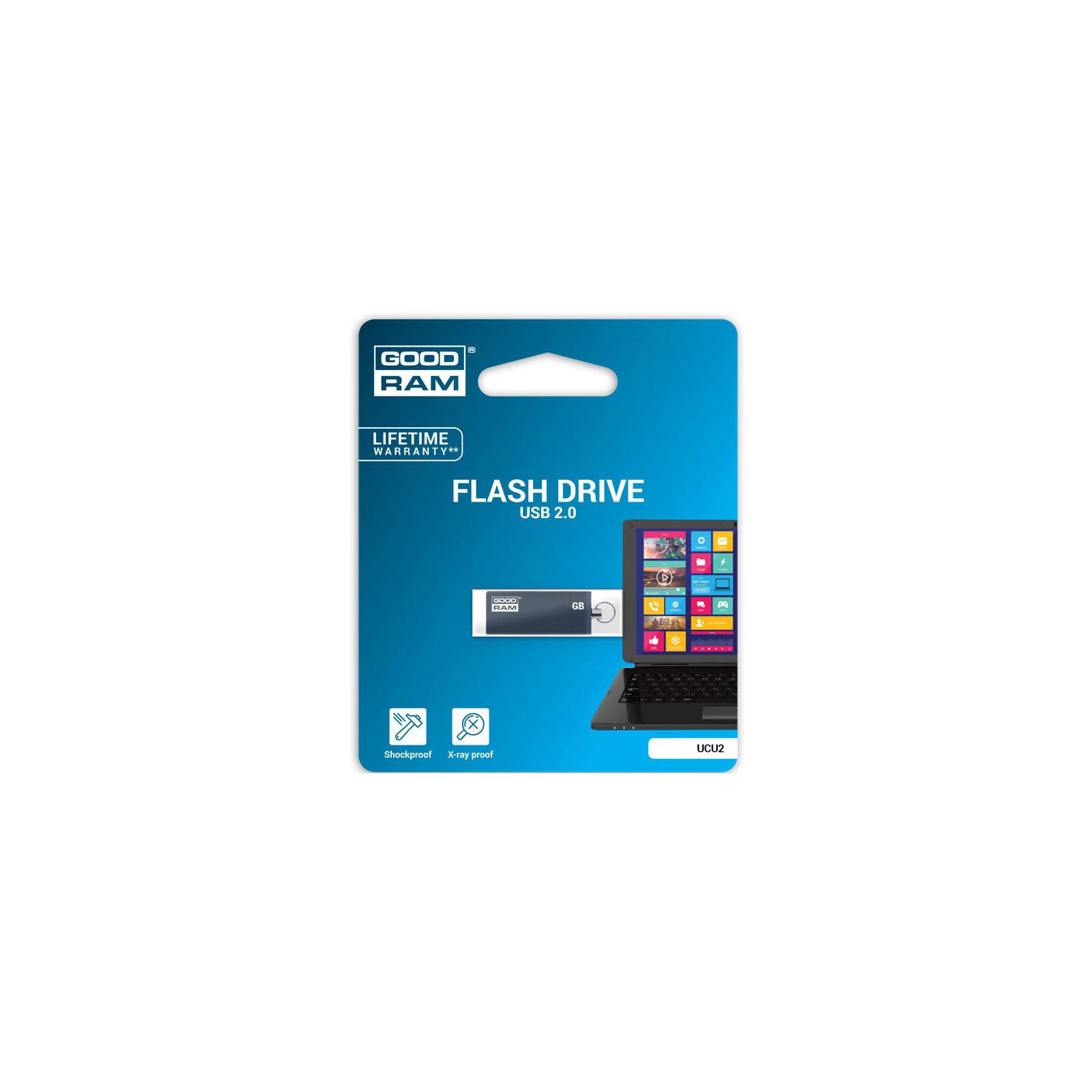 USB флеш накопитель Goodram 32GB UCU2 Cube Graphite USB 2.0 (UCU2-0320E0R11) изображение 2