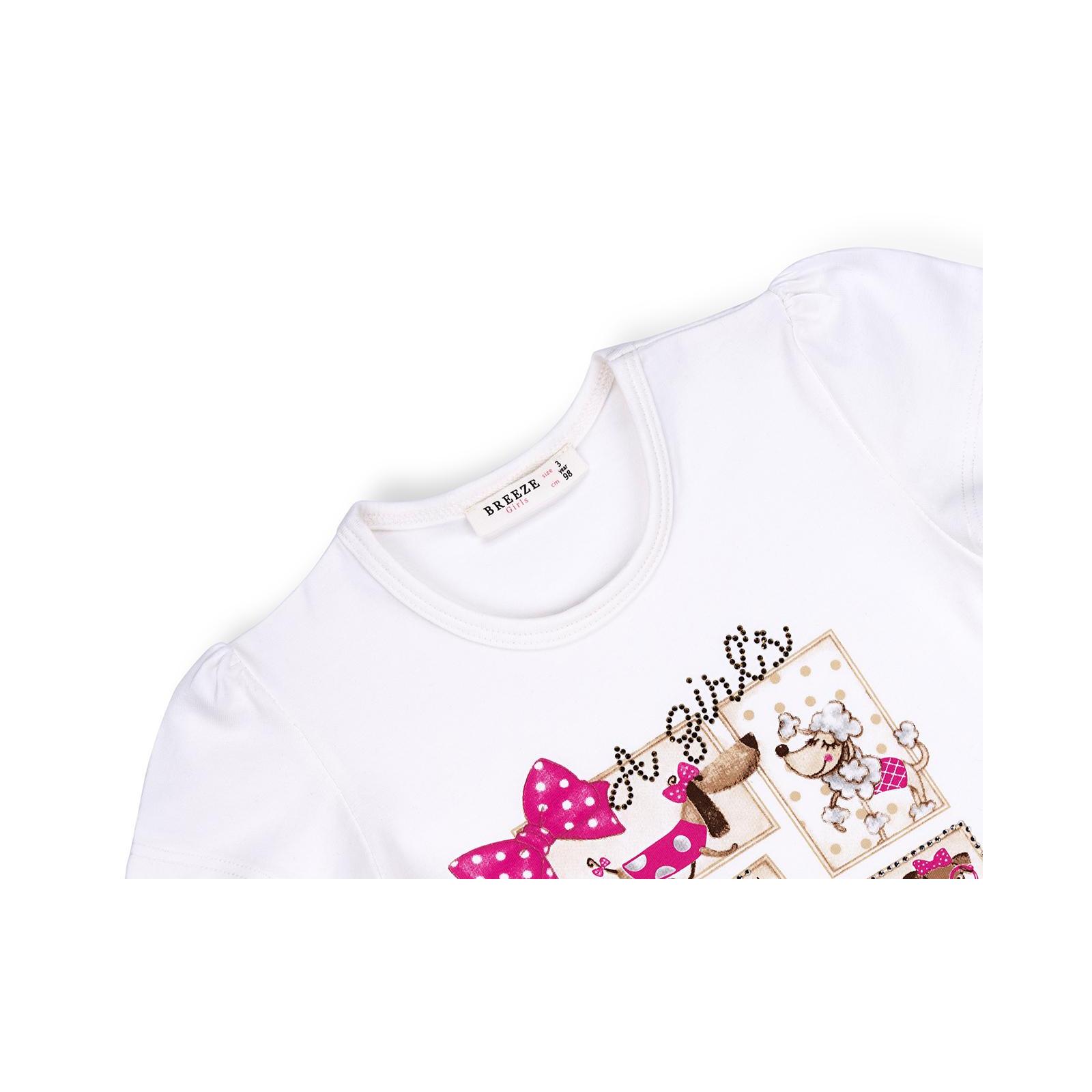 Футболка детская Breeze и капри с собачками и бантиками (10244-98G-pink) изображение 7