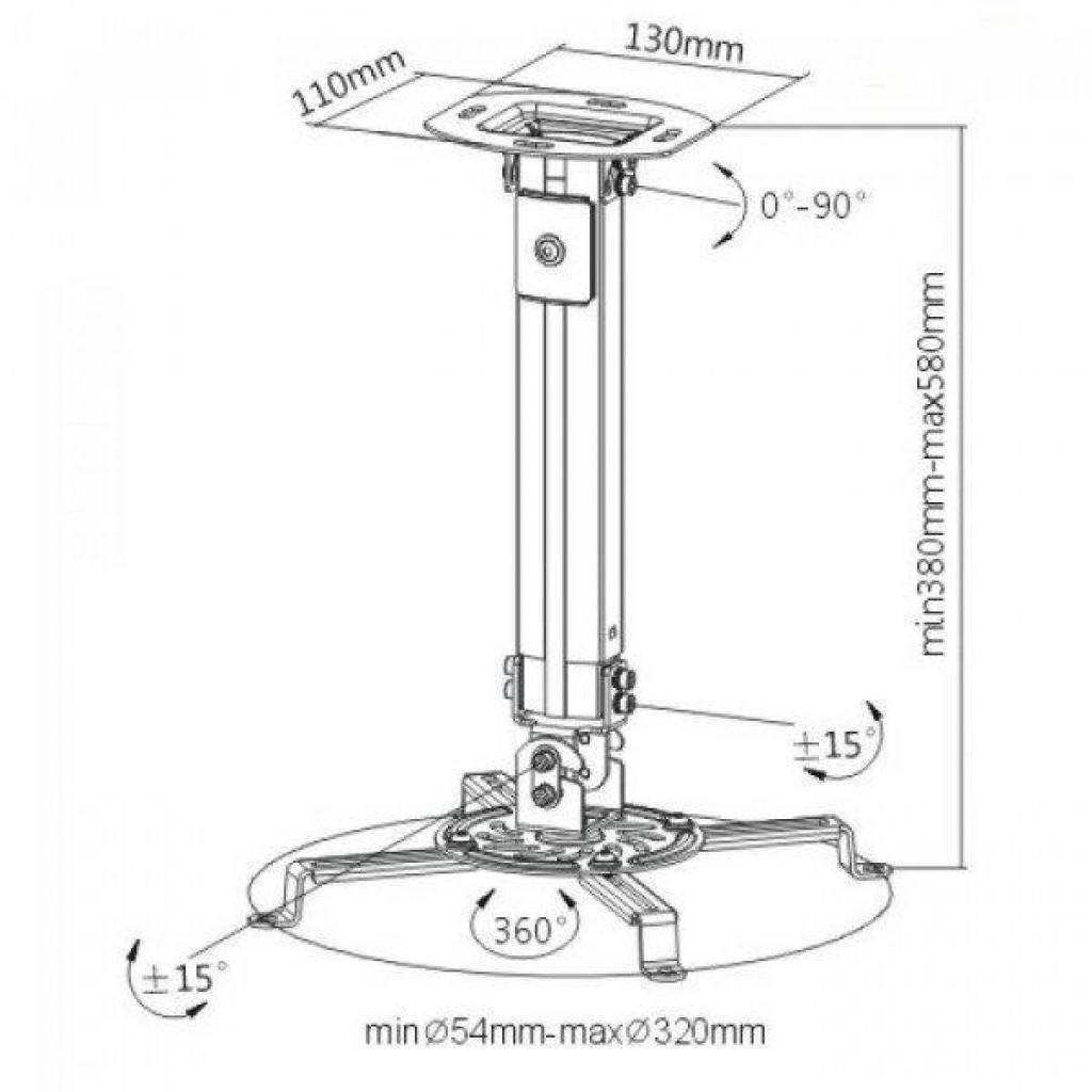 Кронштейн для проектора ITech PRB-07B (PRB-07В) изображение 2