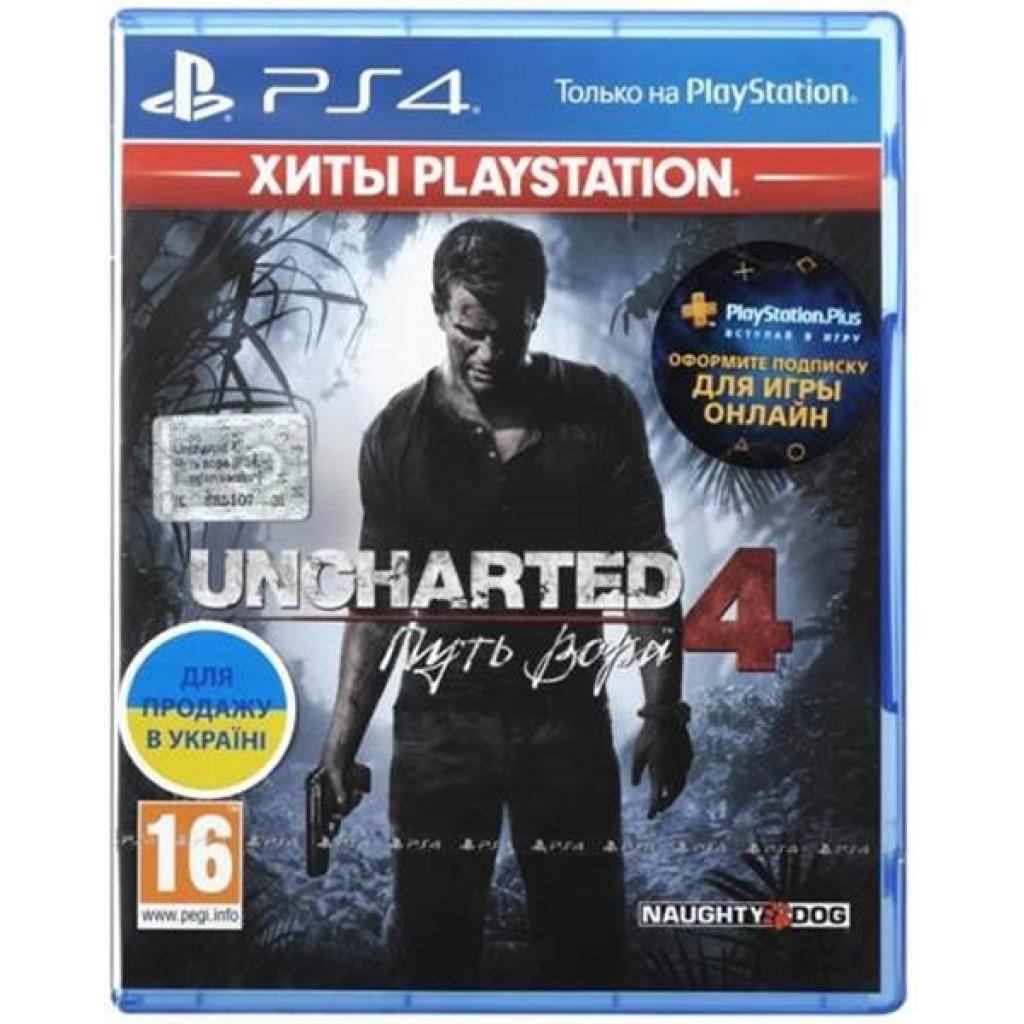 Игра SONY Uncharted 4: Путь вора [PS4, Russian version] Blu-ray диск (9420378)