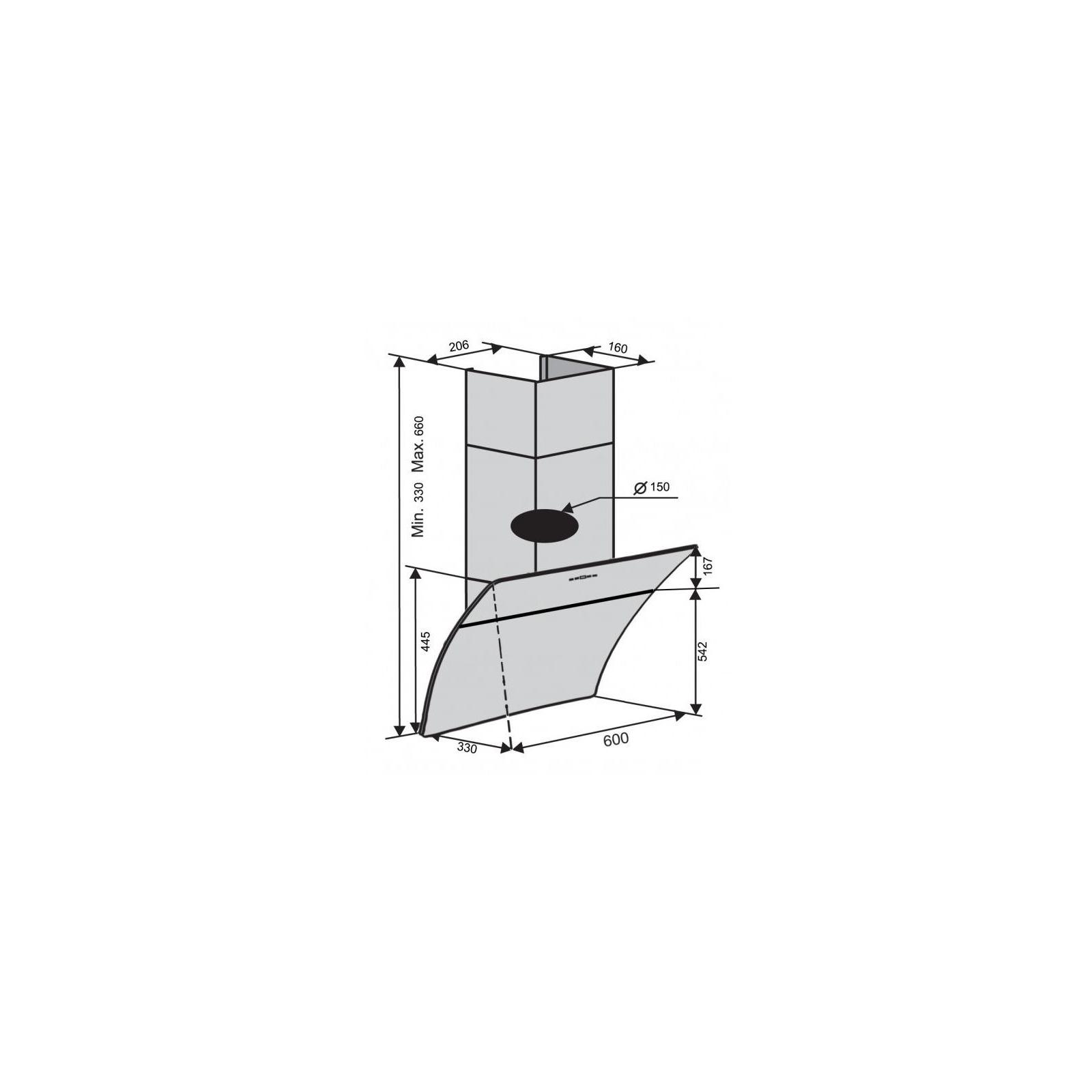 Вытяжка кухонная VENTOLUX FIRENZE 60 BK (1000) TRC IT SD изображение 7