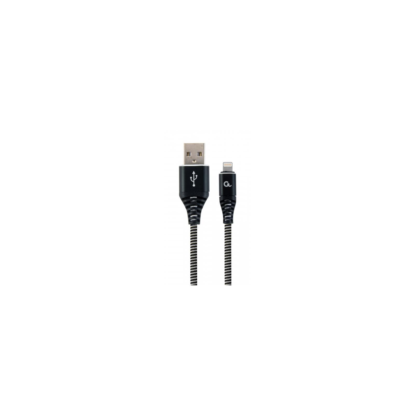 Дата кабель USB 2.0 AM to Lightning 1.0m Cablexpert (CC-USB2B-AMLM-1M-BW)