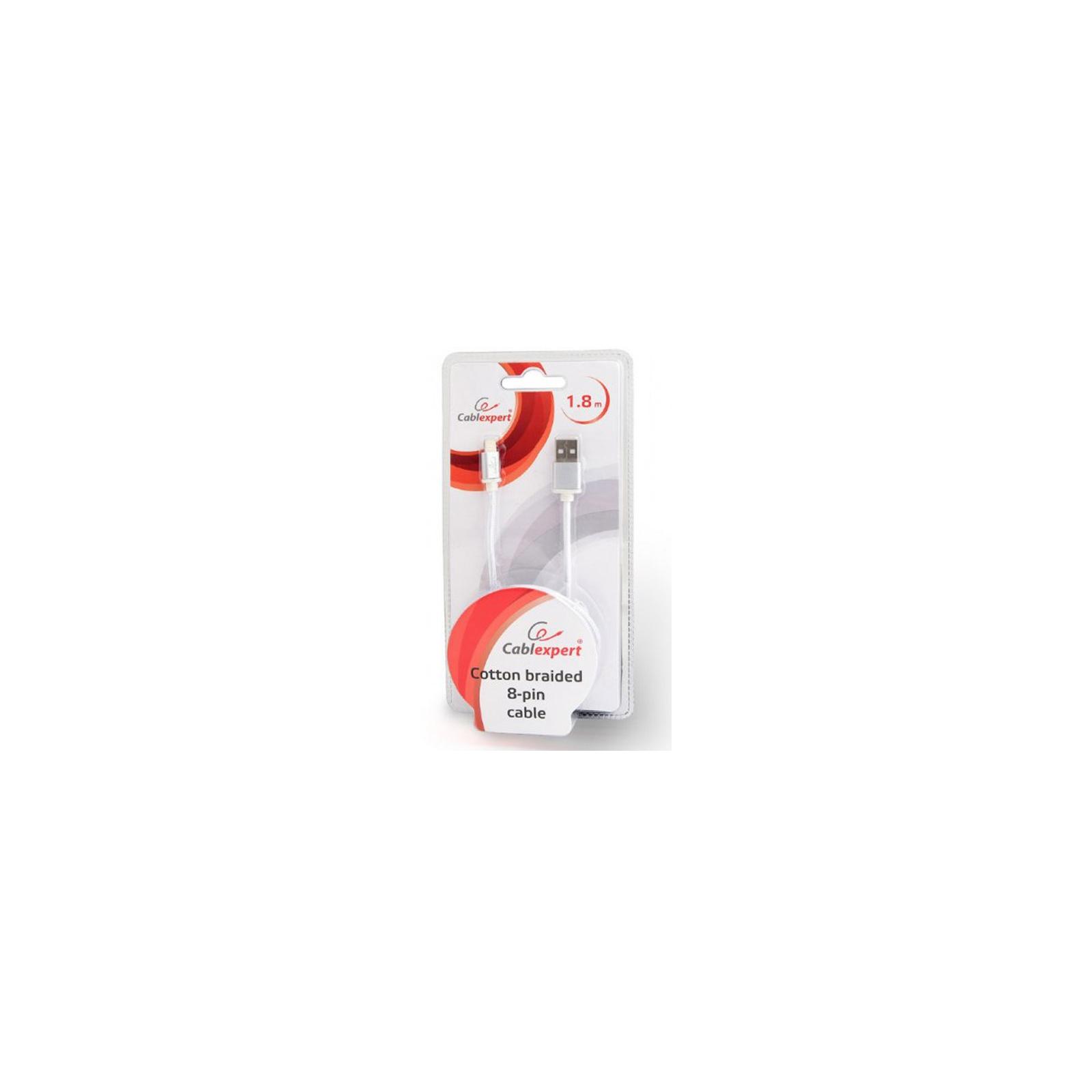 Дата кабель USB 2.0 AM to Lightning 1.8m Cablexpert (CCB-mUSB2B-AMLM-6) изображение 3