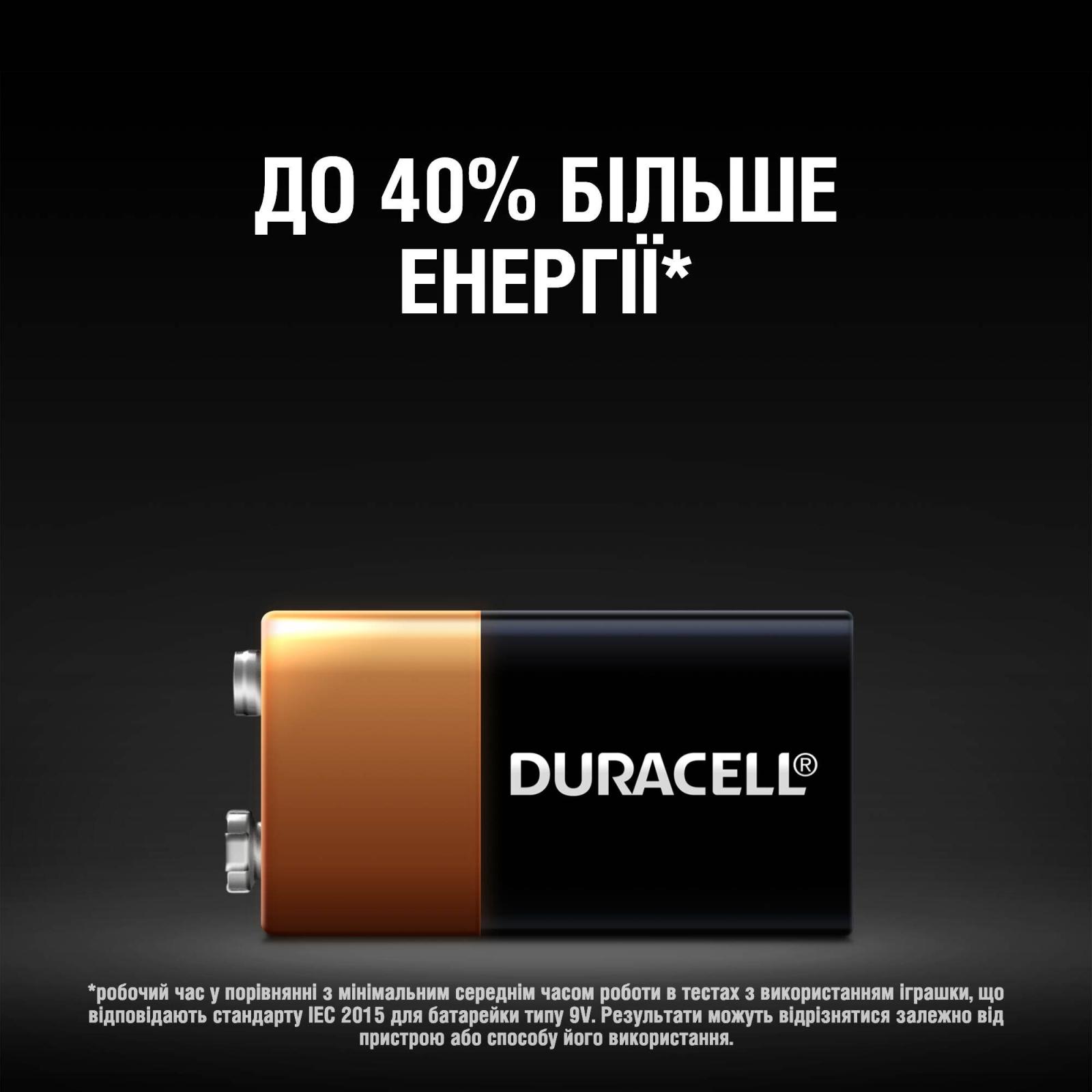 Батарейка Крона 9V * 1 Duracell (5000394066267 / 81483681) изображение 4