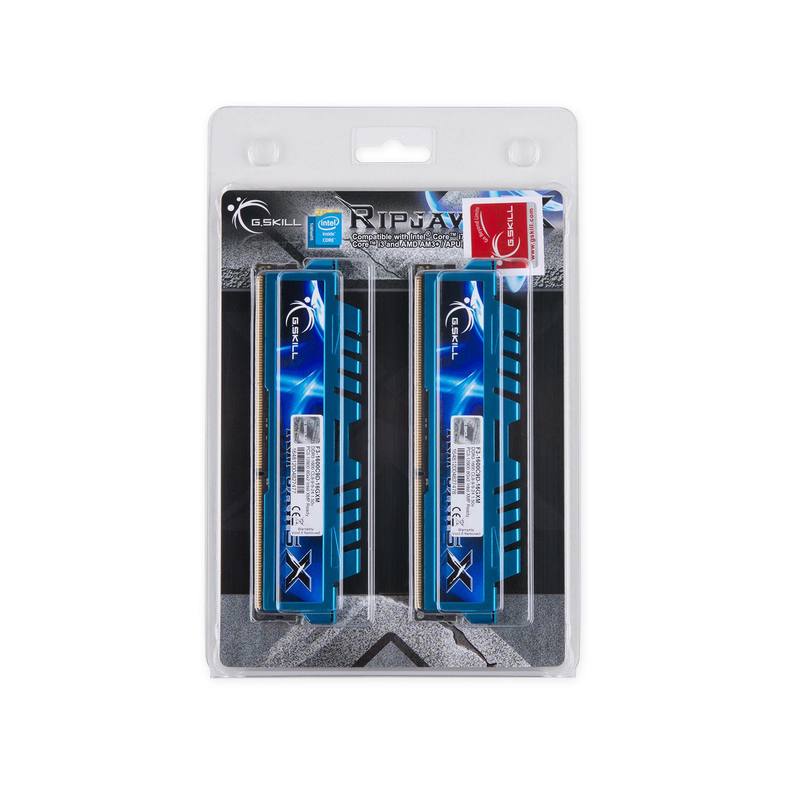 Модуль памяти для компьютера DDR3 16GB (2x8GB) 1600 MHz G.Skill (F3-1600C9D-16GXM) изображение 5