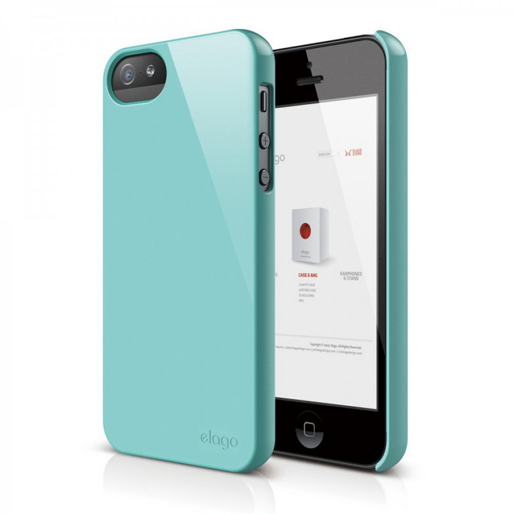Чехол для моб. телефона ELAGO для iPhone 5 /Slim Fit 2 Glossy/Coral Blue (ELS5SM2-UVCBL-RT)