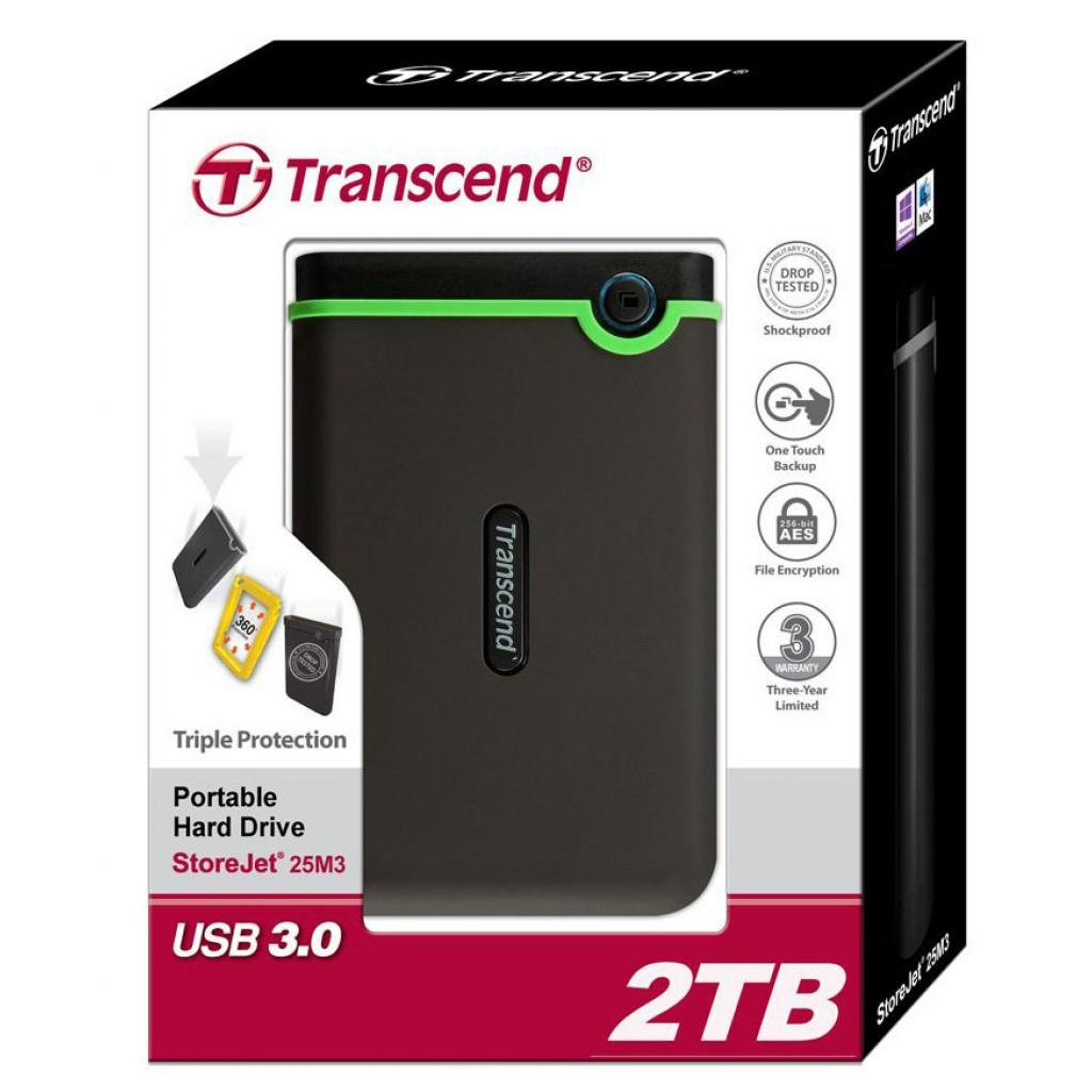 "Внешний жесткий диск 2.5"" 2TB Transcend (TS2TSJ25M3) изображение 4"