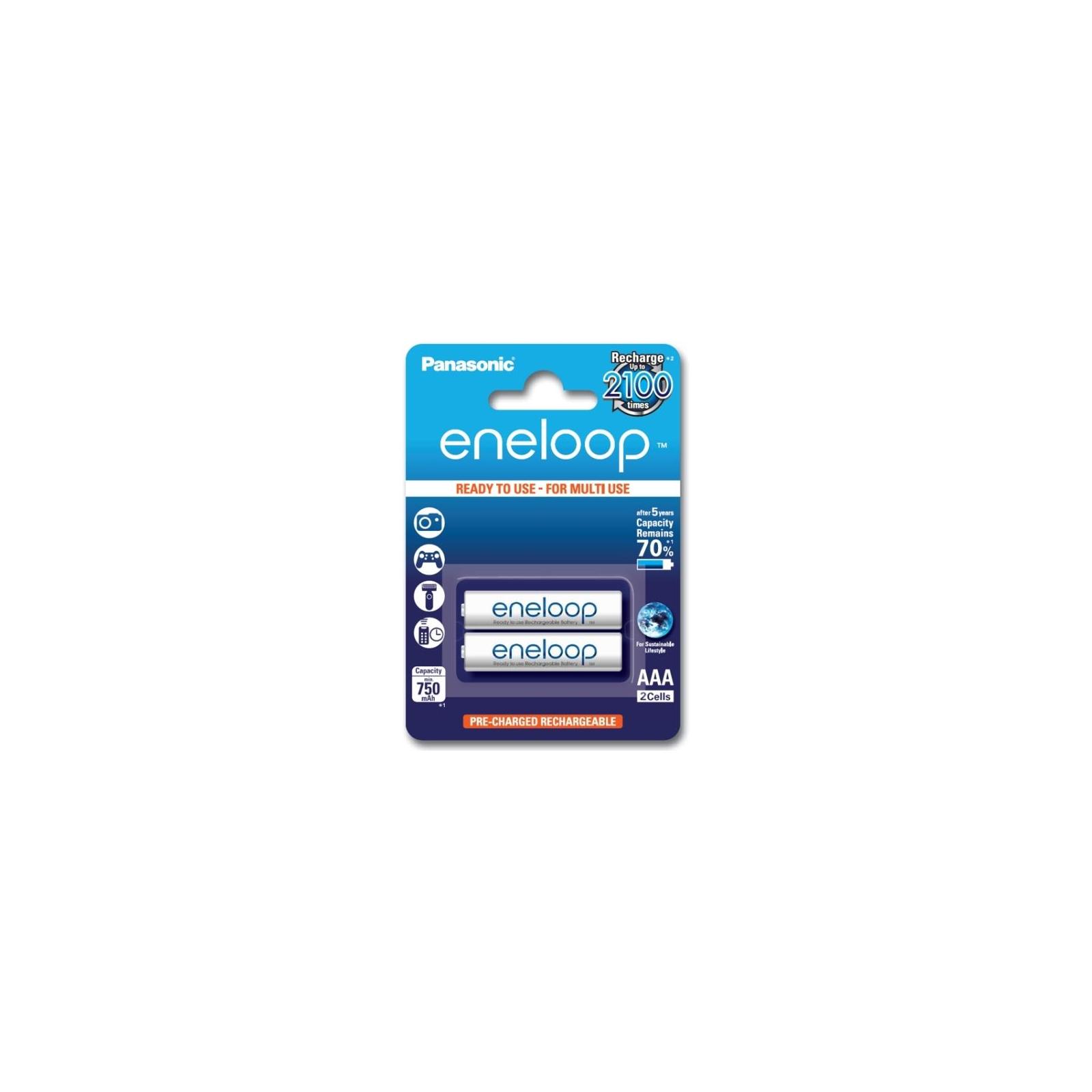 Акумулятор Panasonic Eneloop AAA 750mAh NI-MH * 2 (BK-4MCCE/2BE)