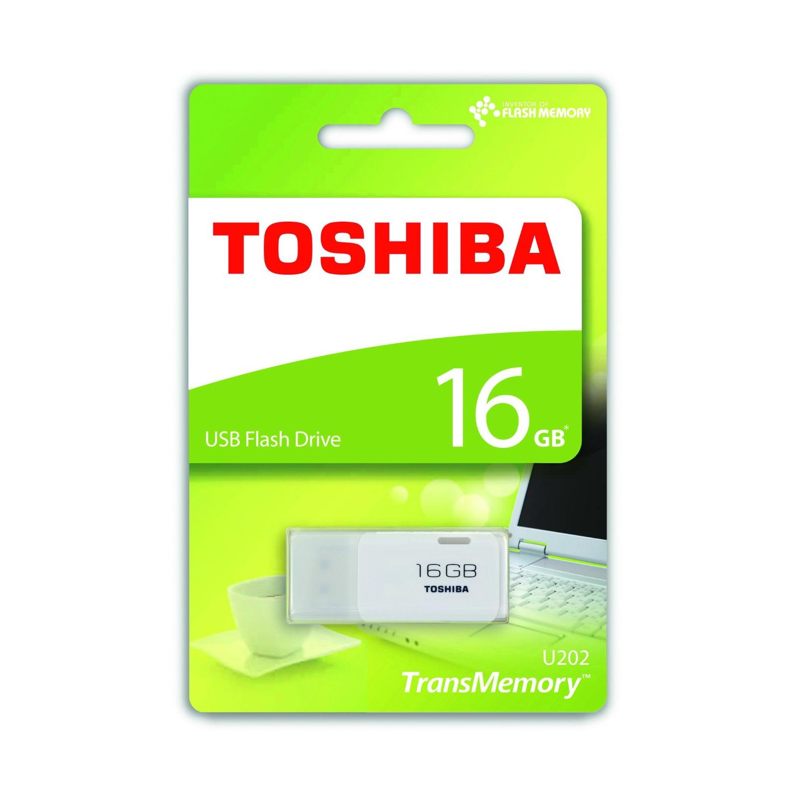 USB флеш накопитель TOSHIBA 16GB U202 White USB 2.0 (THN-U202W0160E4) изображение 2