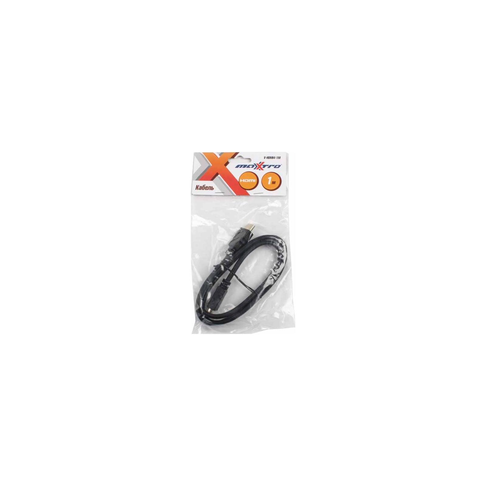Кабель мультимедийный HDMI to HDMI 1.0m Maxxter (V-HDMI4-1M) изображение 2