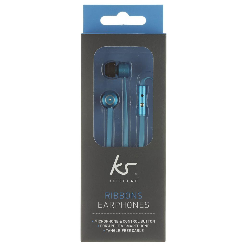Наушники KitSound KS Ribbons In-Ear Earphones with Mic Blue (KSRIBBL) изображение 10