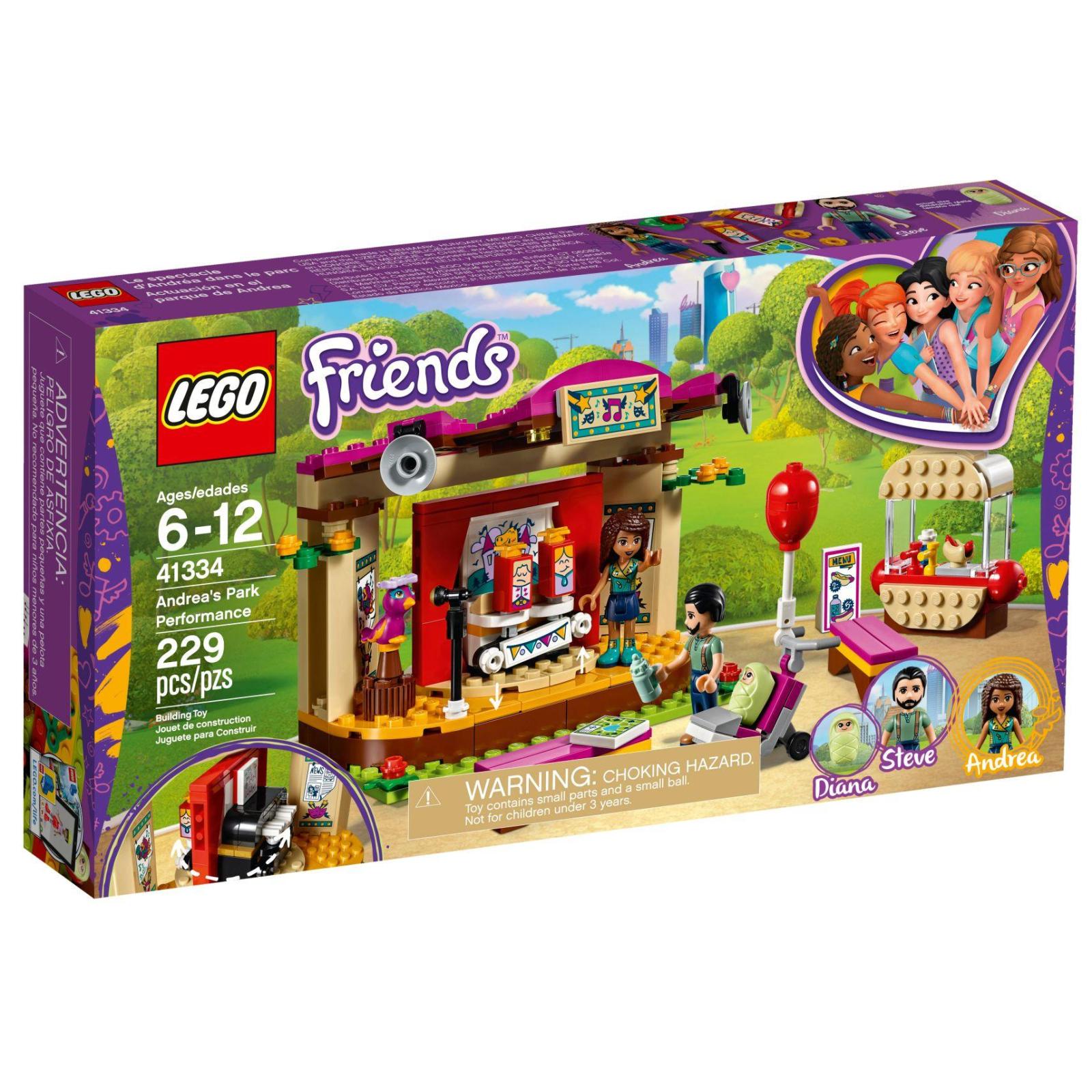 Конструктор LEGO Friends Выступление в парке Андреа (41334)
