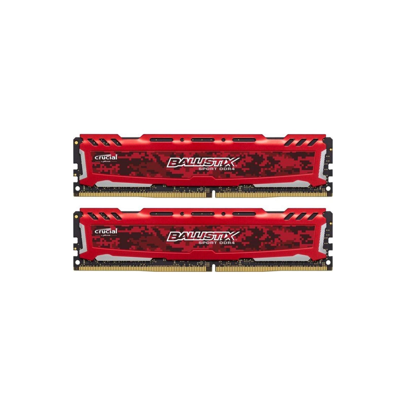Модуль памяти для компьютера DDR4 32GB (2x16GB) 2666 MHz Ballistix Sport LT Micron (BLS2C16G4D26BFSE)