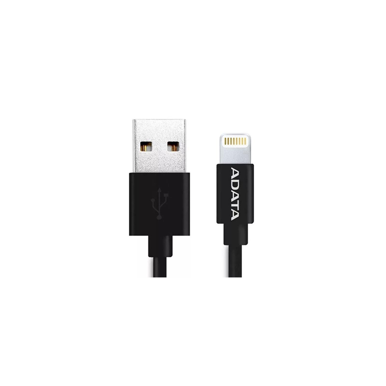 Дата кабель USB 2.0 AM to Lightning 1.0m MFI Black ADATA (AMFIPL-100CM-CBK) изображение 2
