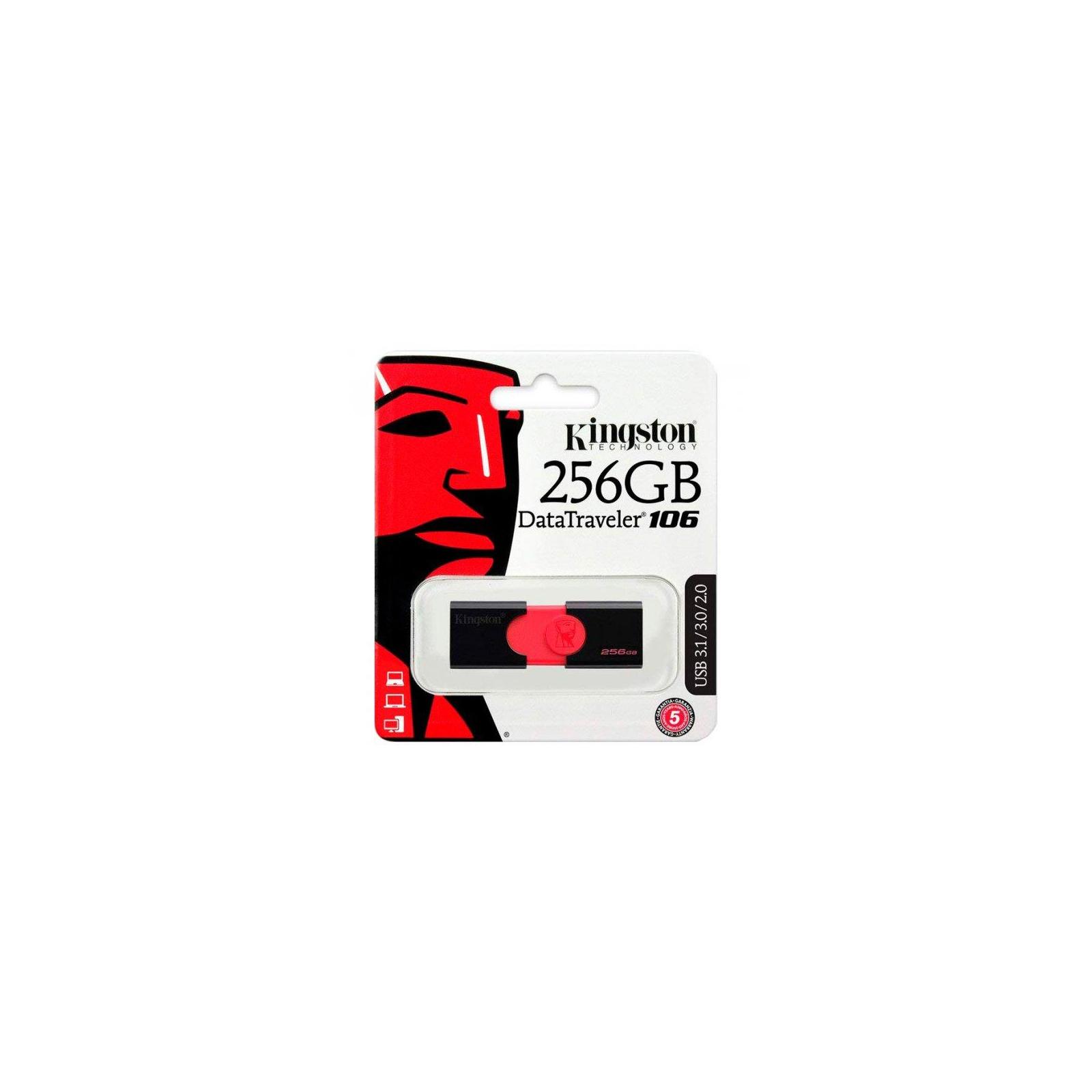 USB флеш накопитель Kingston 256GB DT106 USB 3.0 (DT106/256GB) изображение 5