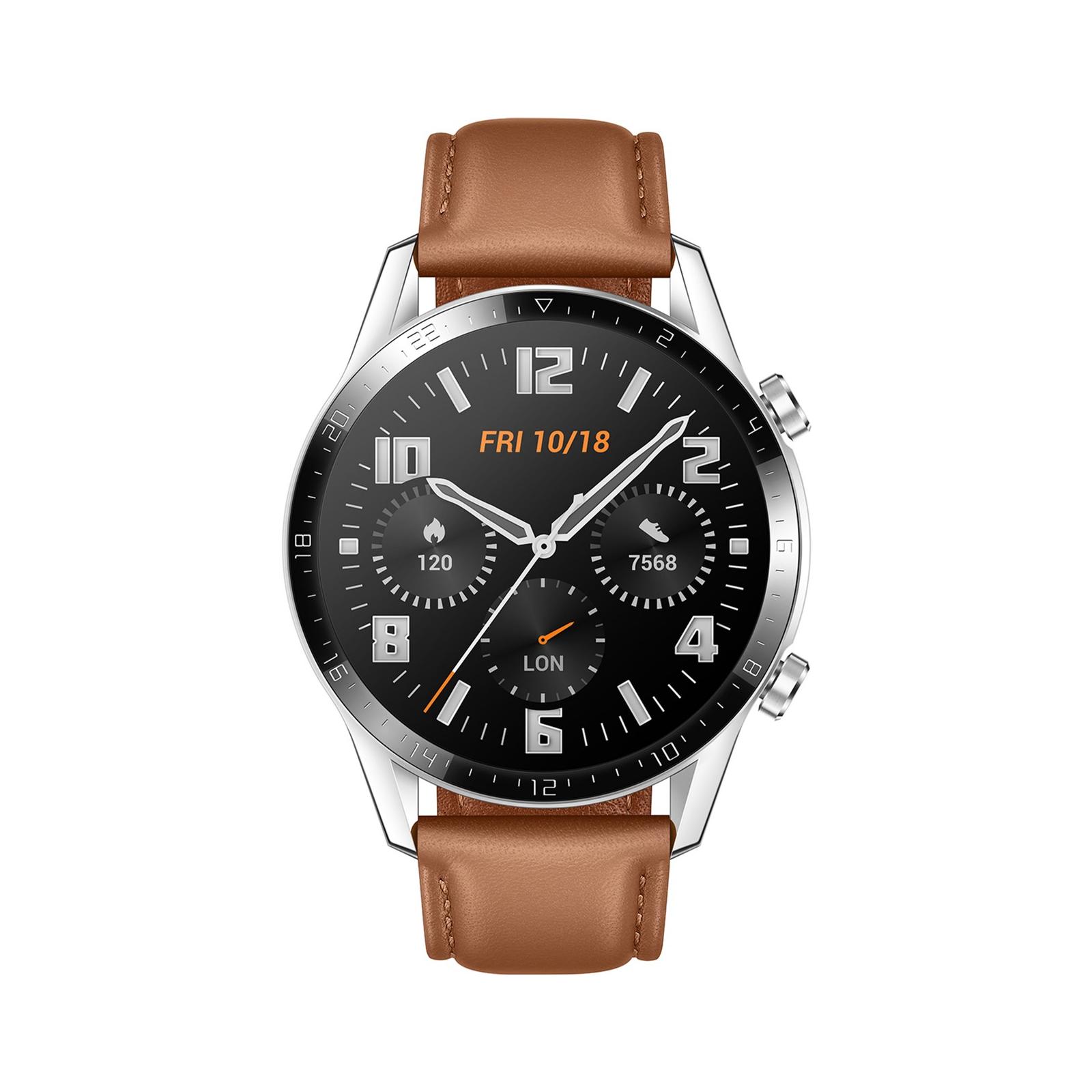 Смарт-часы Huawei Watch GT 2 46mm Classic Silver BROWN шкіра (Latona-B19V) (55024470) изображение 2