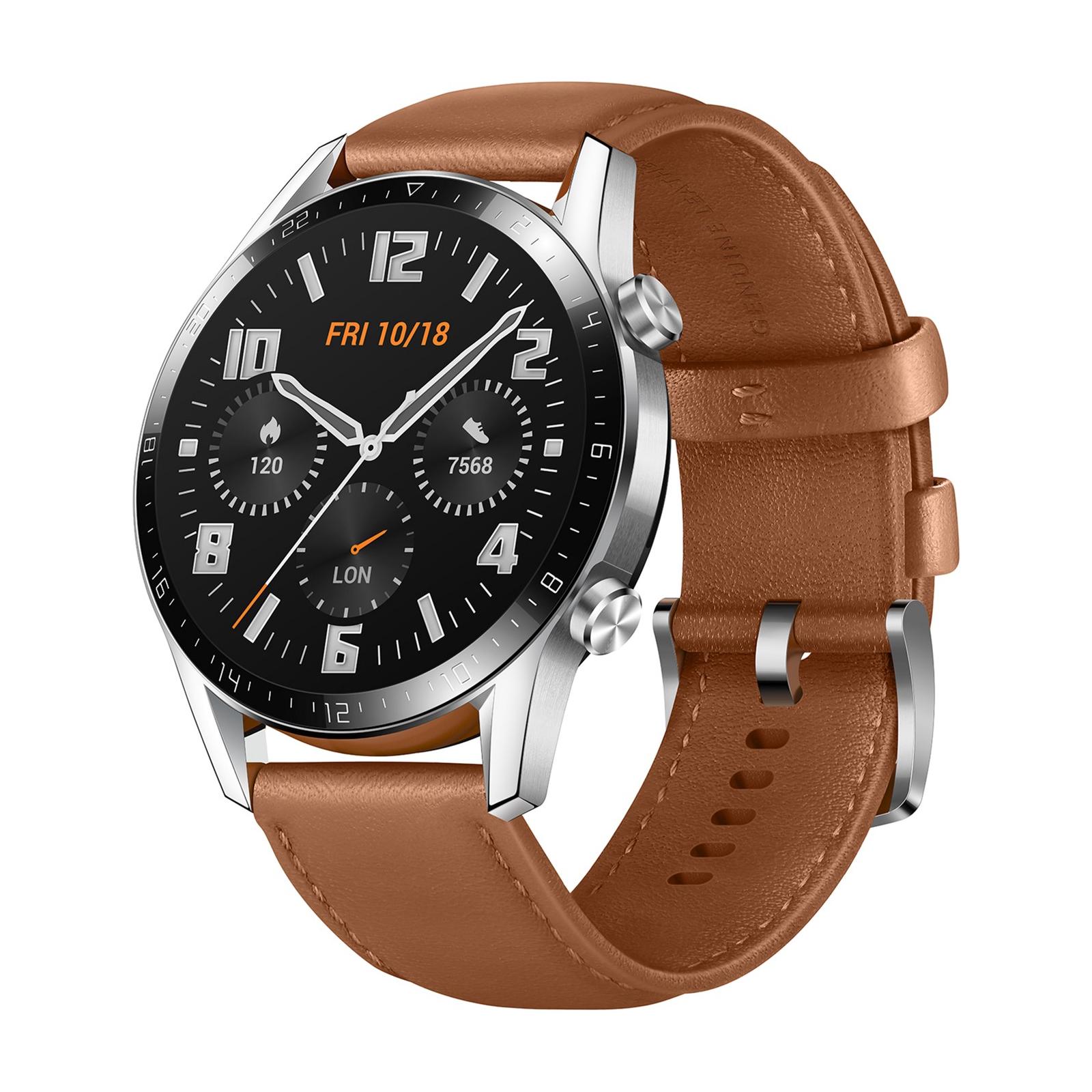 Смарт-часы Huawei Watch GT 2 46mm Classic Silver BROWN шкіра (Latona-B19V) (55024470) изображение 3