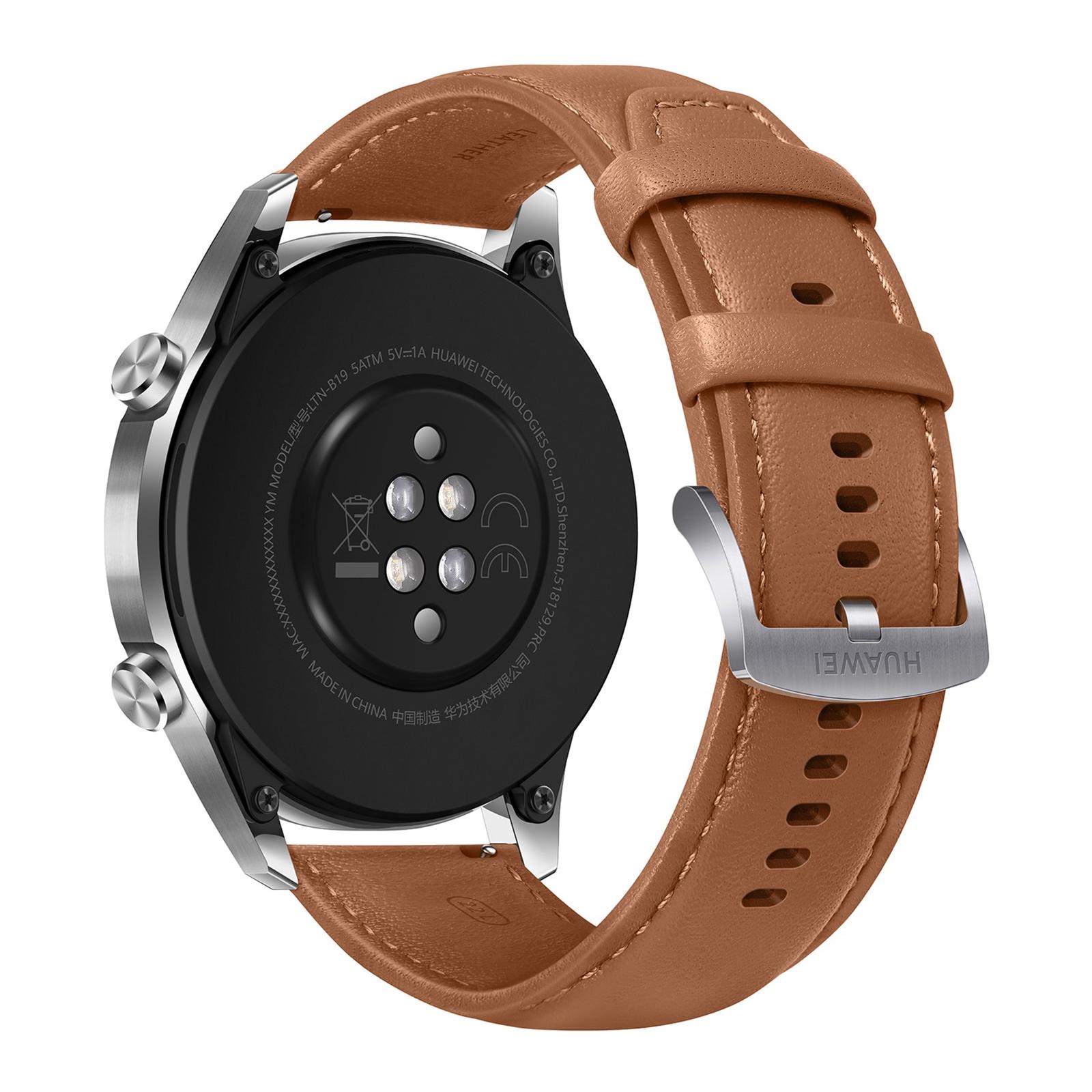 Смарт-часы Huawei Watch GT 2 46mm Classic Silver BROWN шкіра (Latona-B19V) (55024470) изображение 4