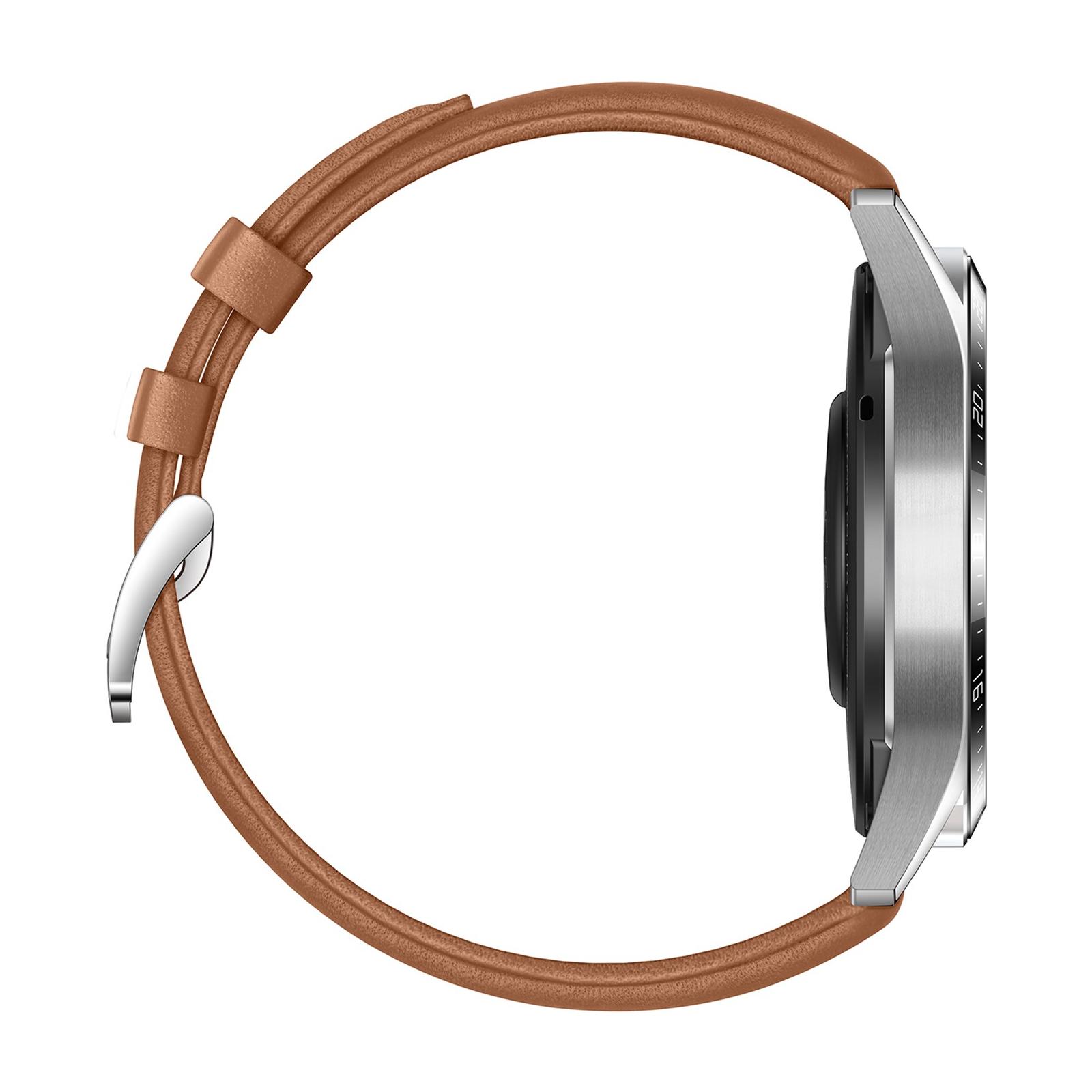 Смарт-часы Huawei Watch GT 2 46mm Classic Silver BROWN шкіра (Latona-B19V) (55024470) изображение 5