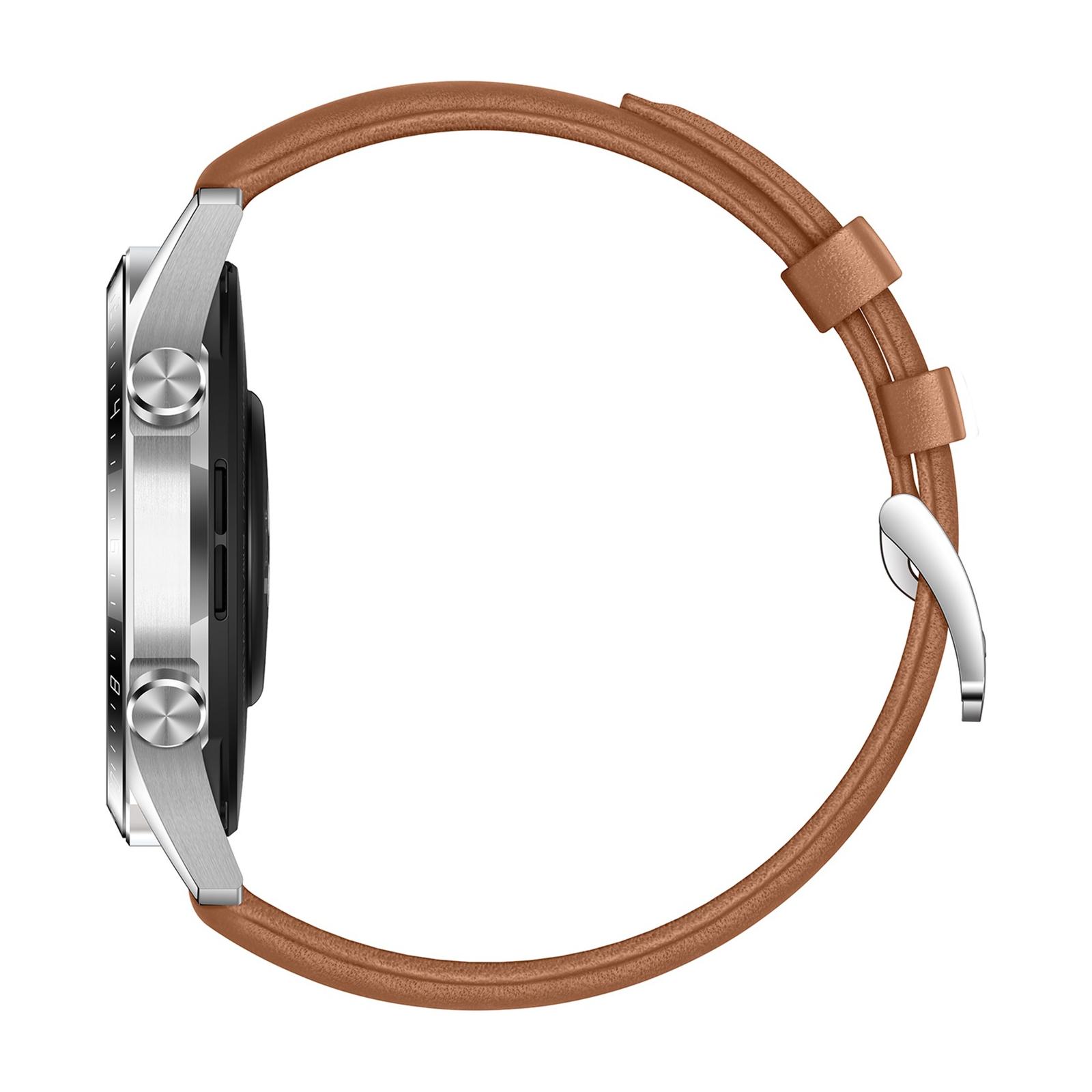 Смарт-часы Huawei Watch GT 2 46mm Classic Silver BROWN шкіра (Latona-B19V) (55024470) изображение 6
