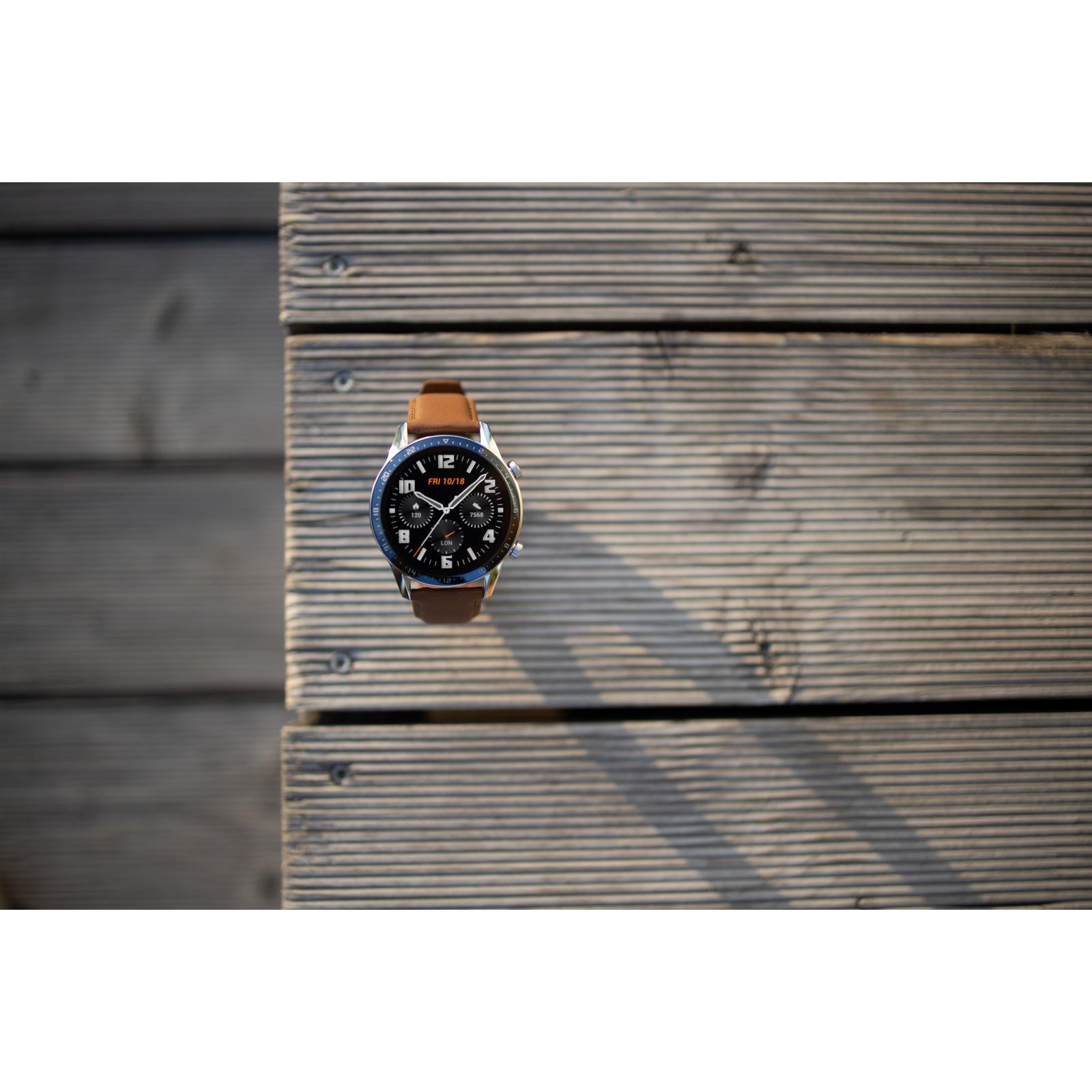 Смарт-часы Huawei Watch GT 2 46mm Classic Silver BROWN шкіра (Latona-B19V) (55024470) изображение 8