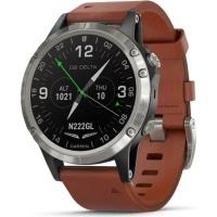 Смарт-часы Garmin D2 Delta Aviator Watch with Brown Leather & Black Silicone B (010-01988-31/30)