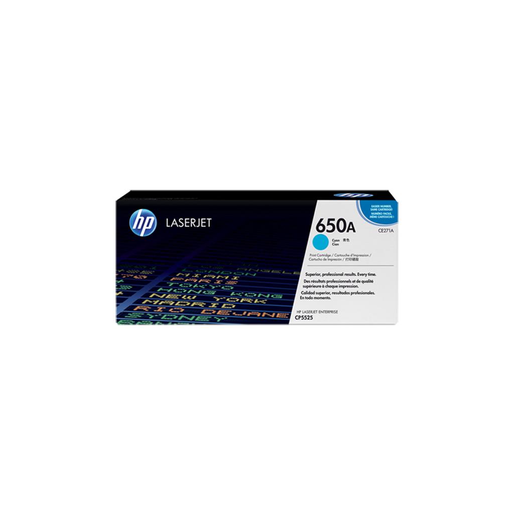 Картридж HP CLJ  650A cyan /CP5525 (CE271A)