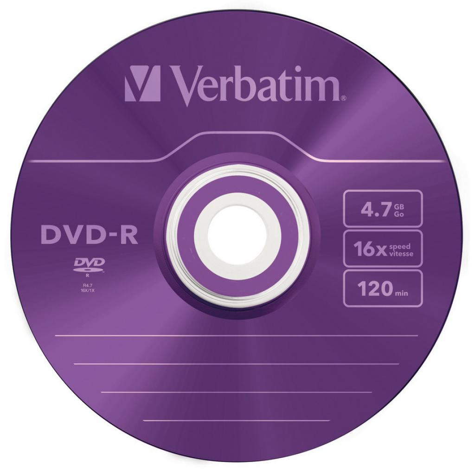 Диск DVD Verbatim 4.7Gb 16X Slim case 5 шт Color (43557) изображение 3